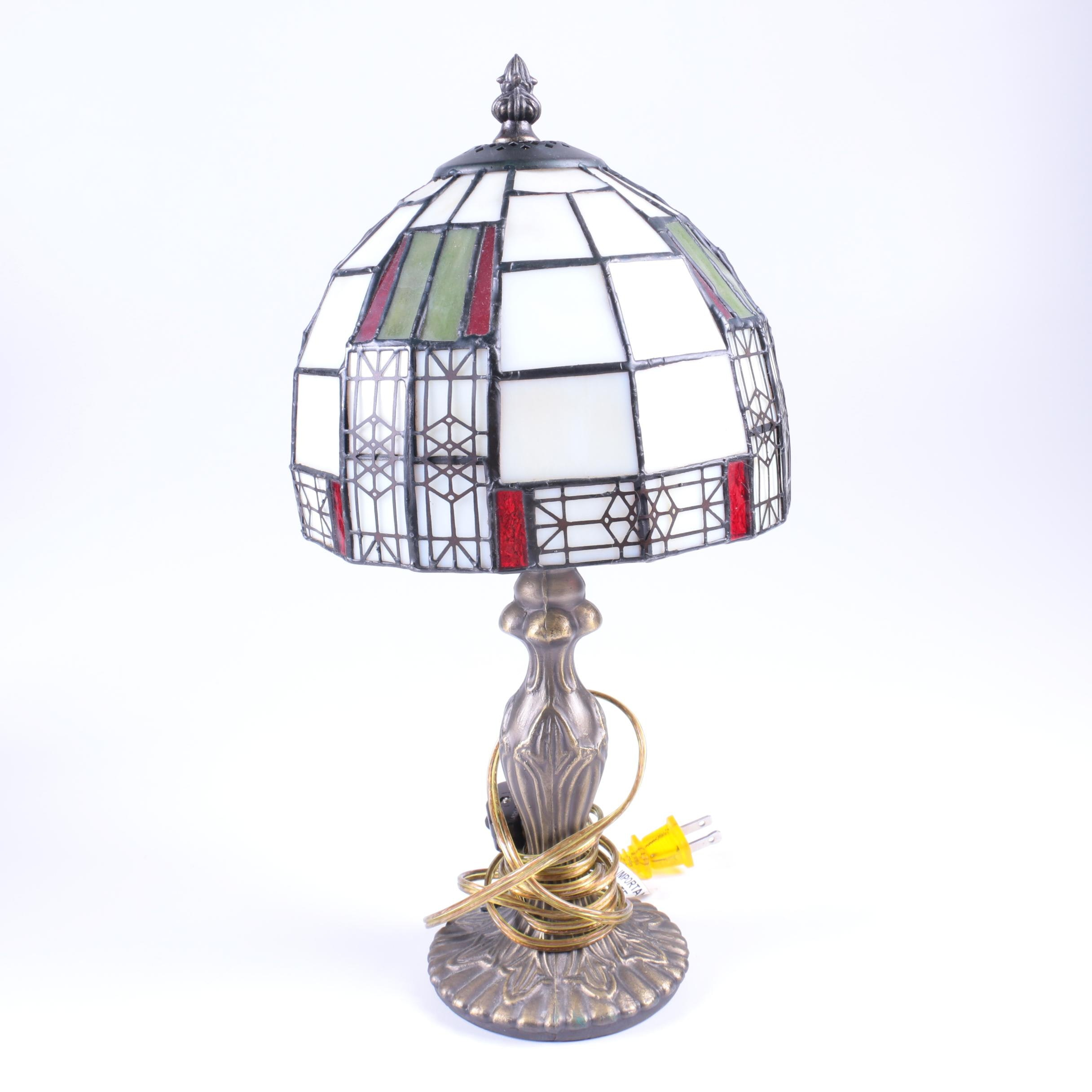 Accent Lamp with Stained Glass Shade