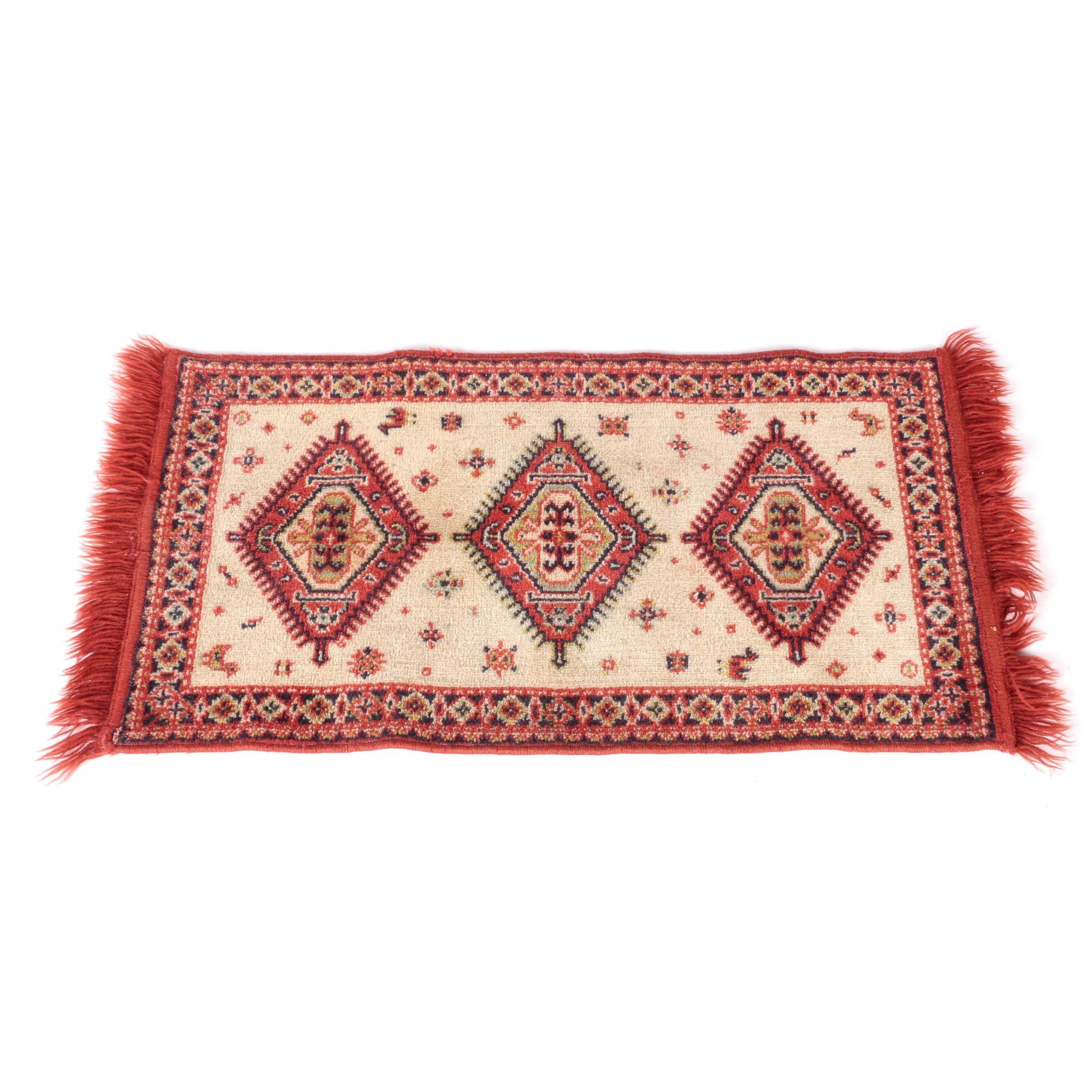 Power-Loomed Kazak-Style Wool Accent Rug
