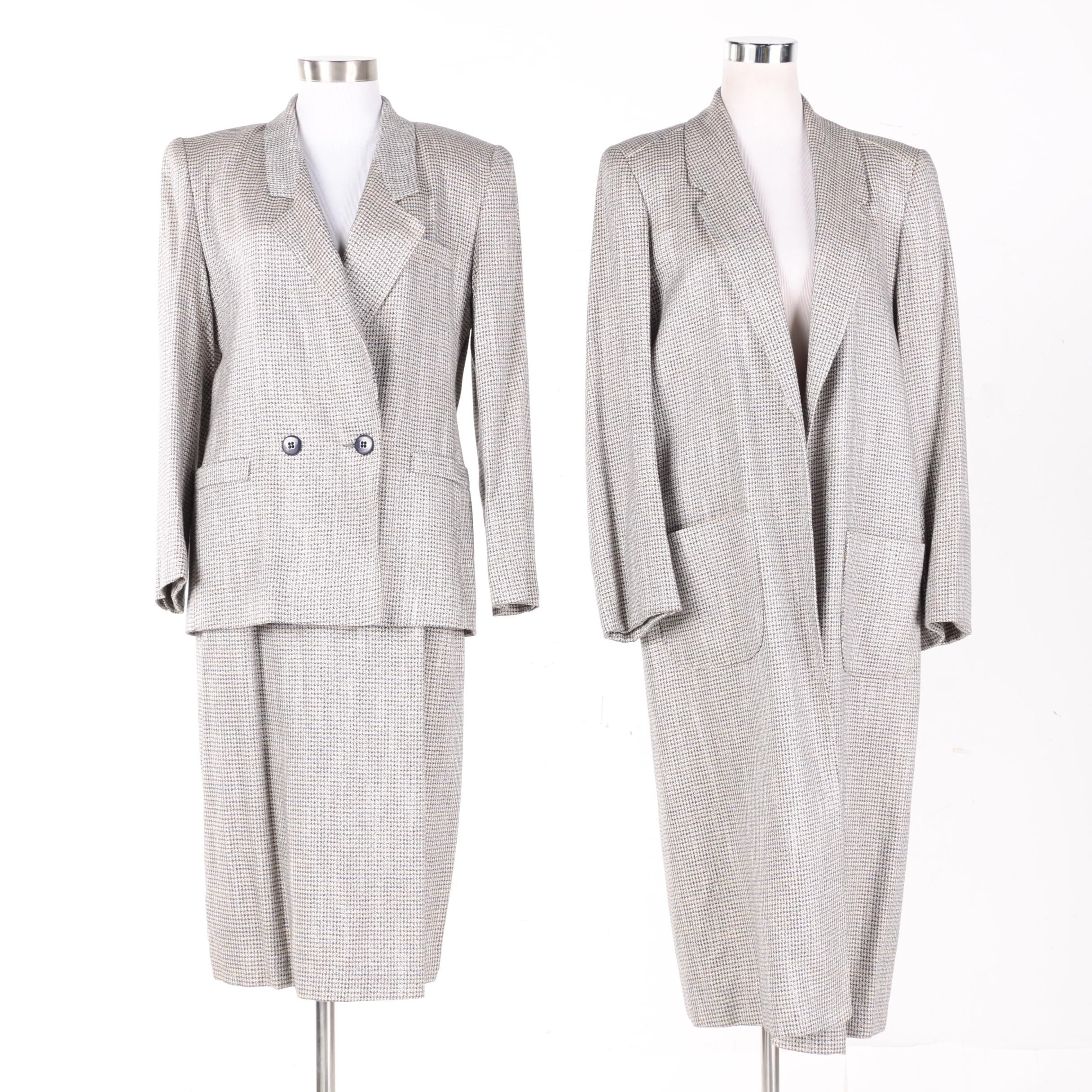 Women's Bert Newman Houndstooth Skirt Suit