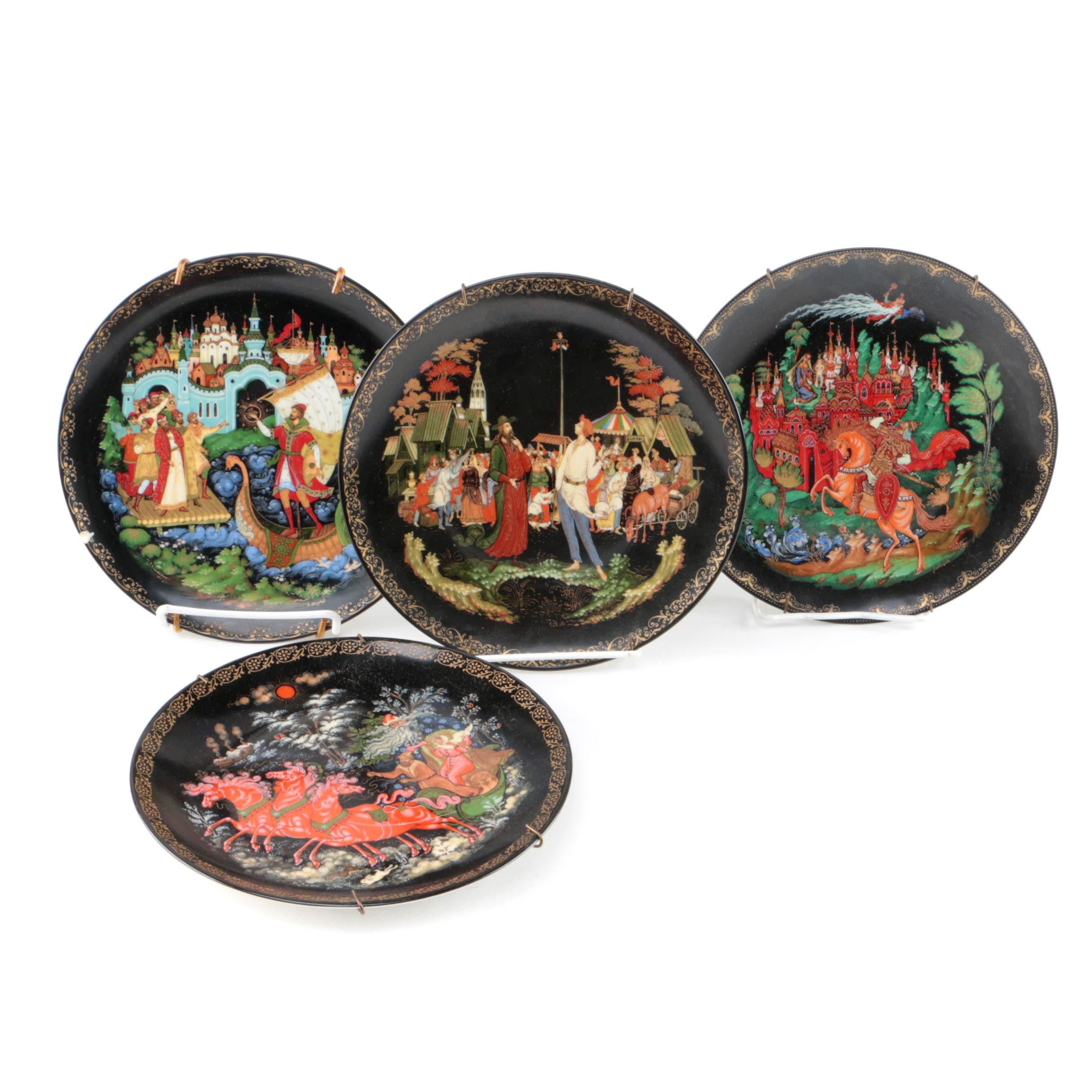 """Vintage Tianex """"Russian Legends"""" Collector's Plates"""