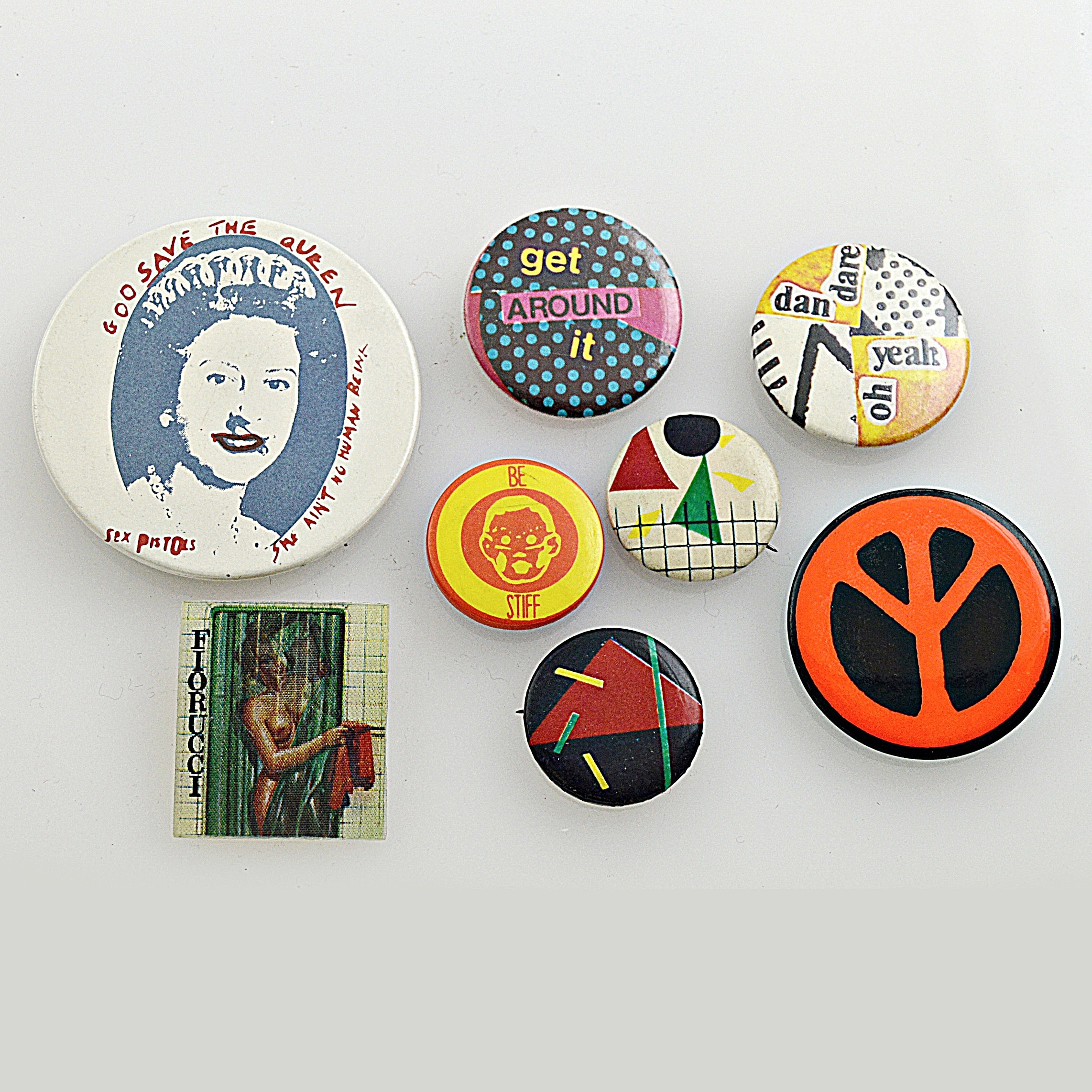 1970s Counterculture and Modernist Pins with The Sex Pistols