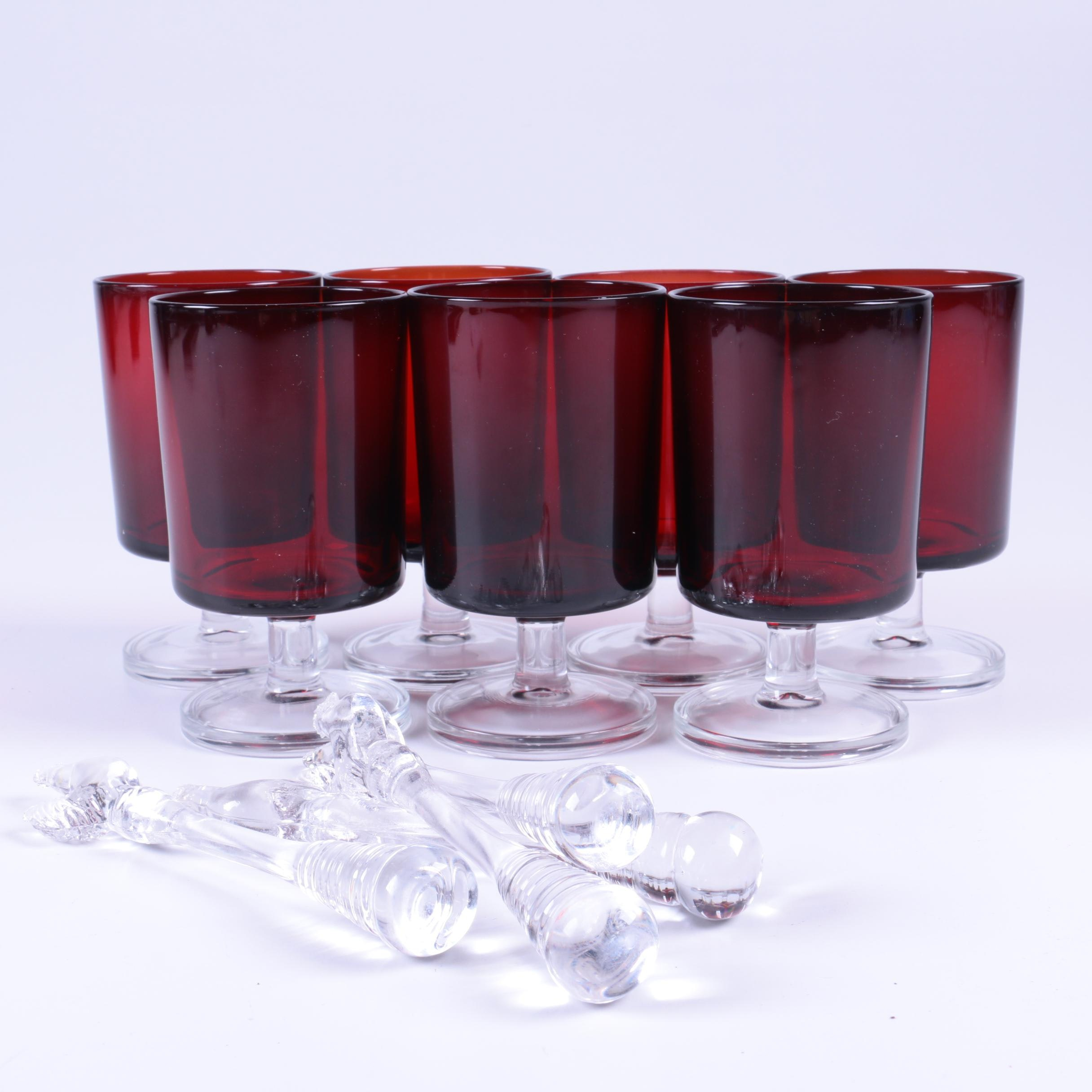 Ruby Red Goblets