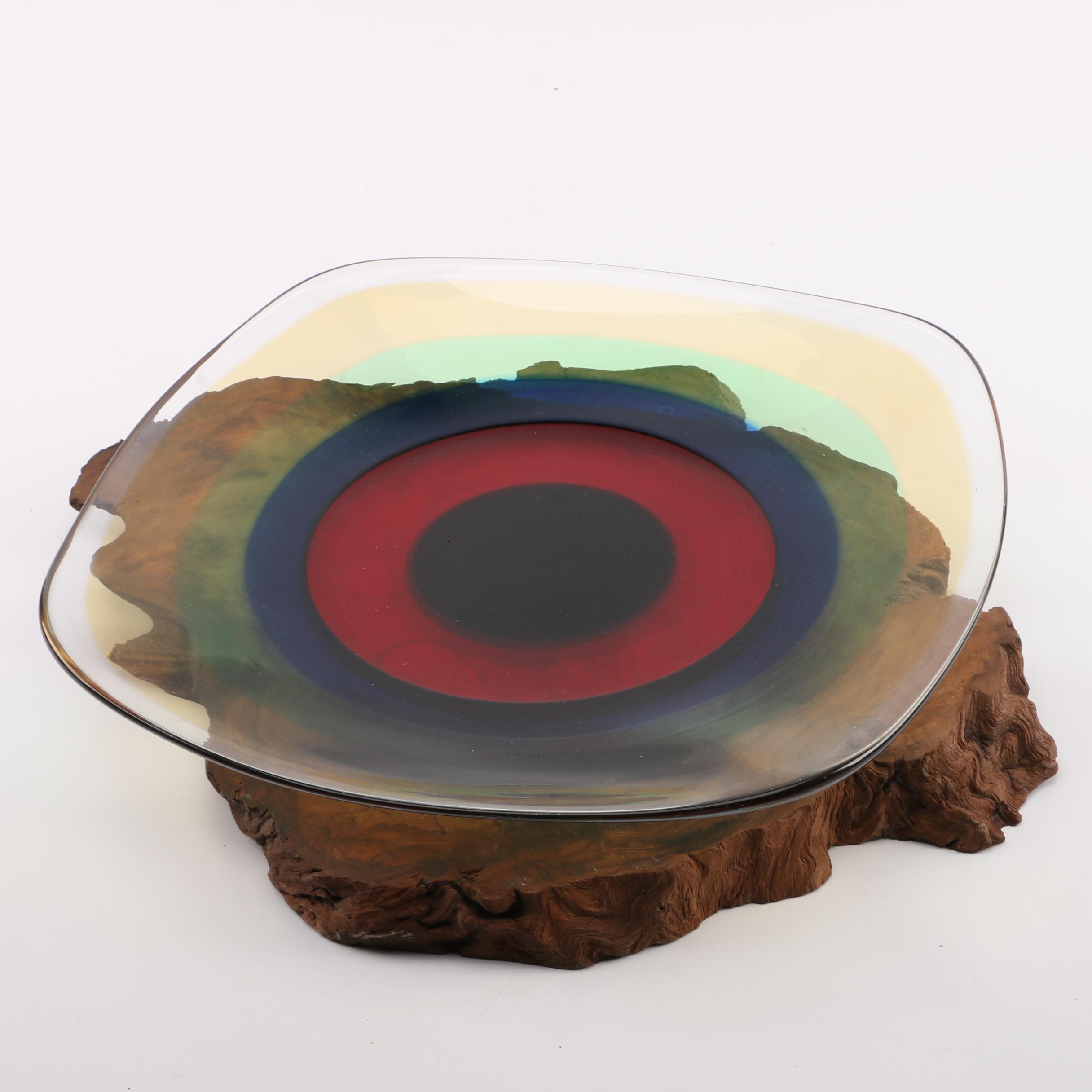 Vintage Murano Art Glass Platter