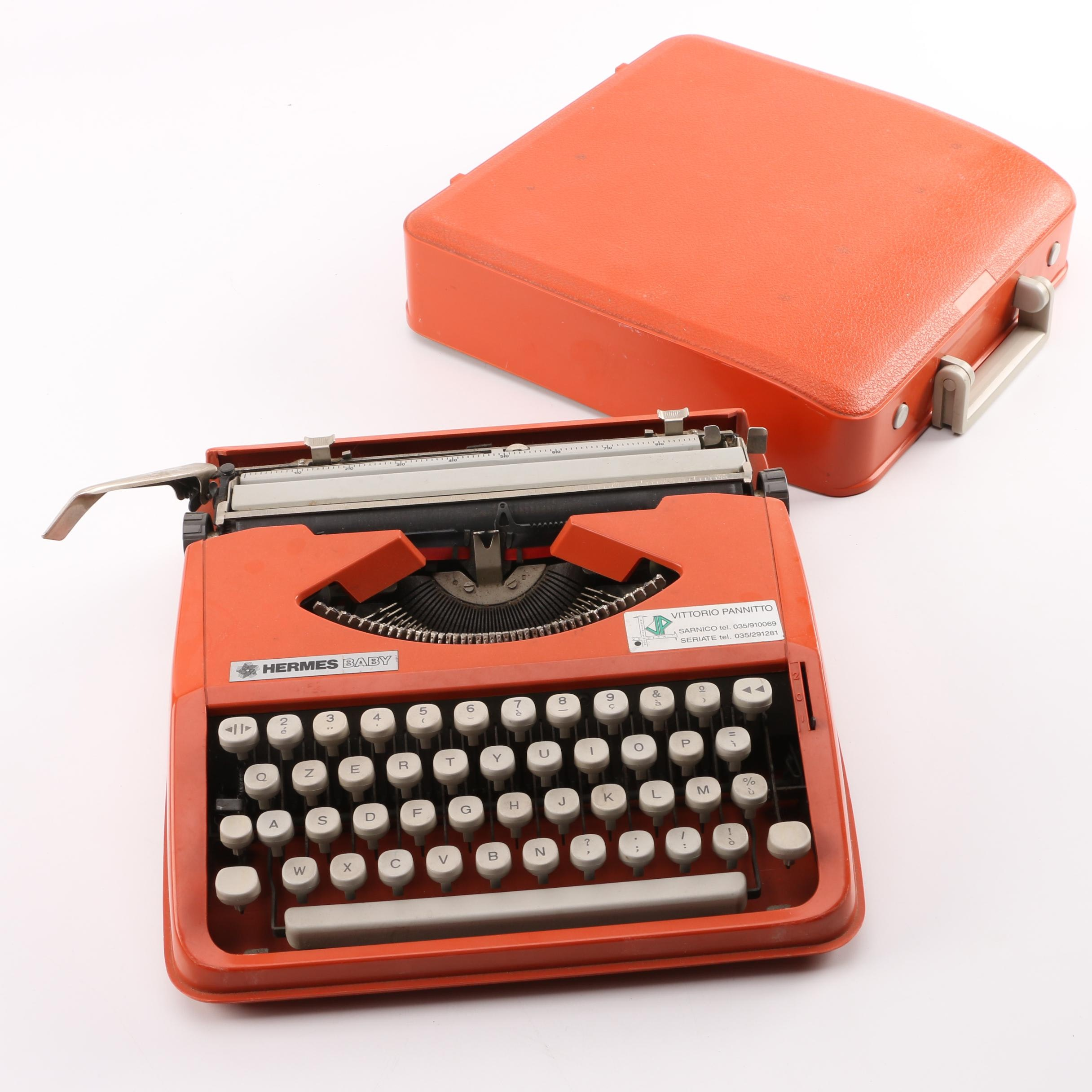 1960s-Era Hermes Baby Portable QZERTY Typewriter