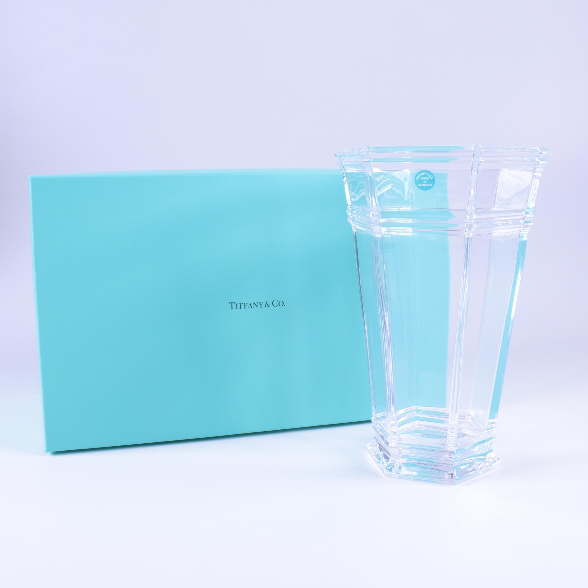 "Tiffany & Co. Crystal ""Windham"" Vase"
