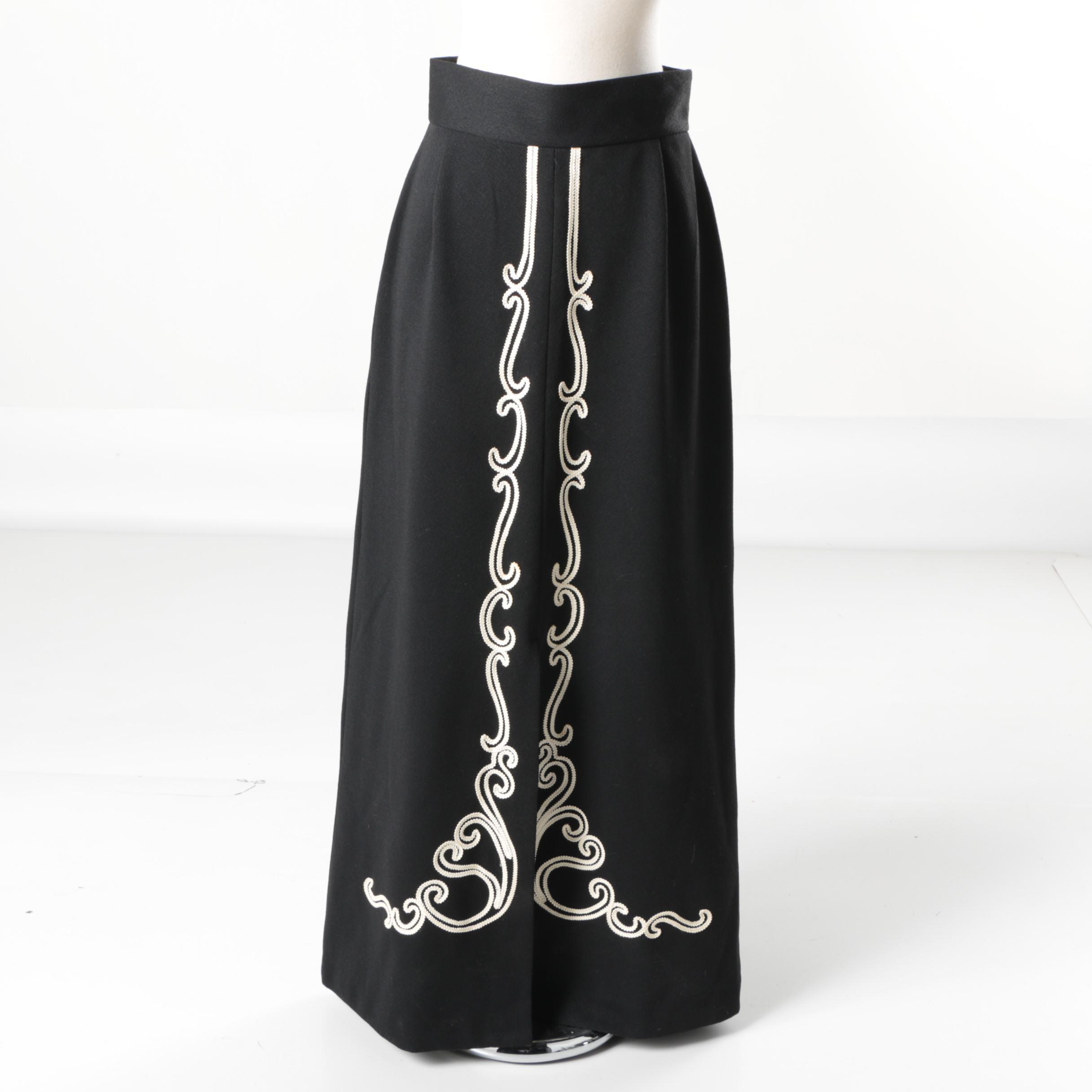 Vintage Jon Peters Black Maxi Skirt