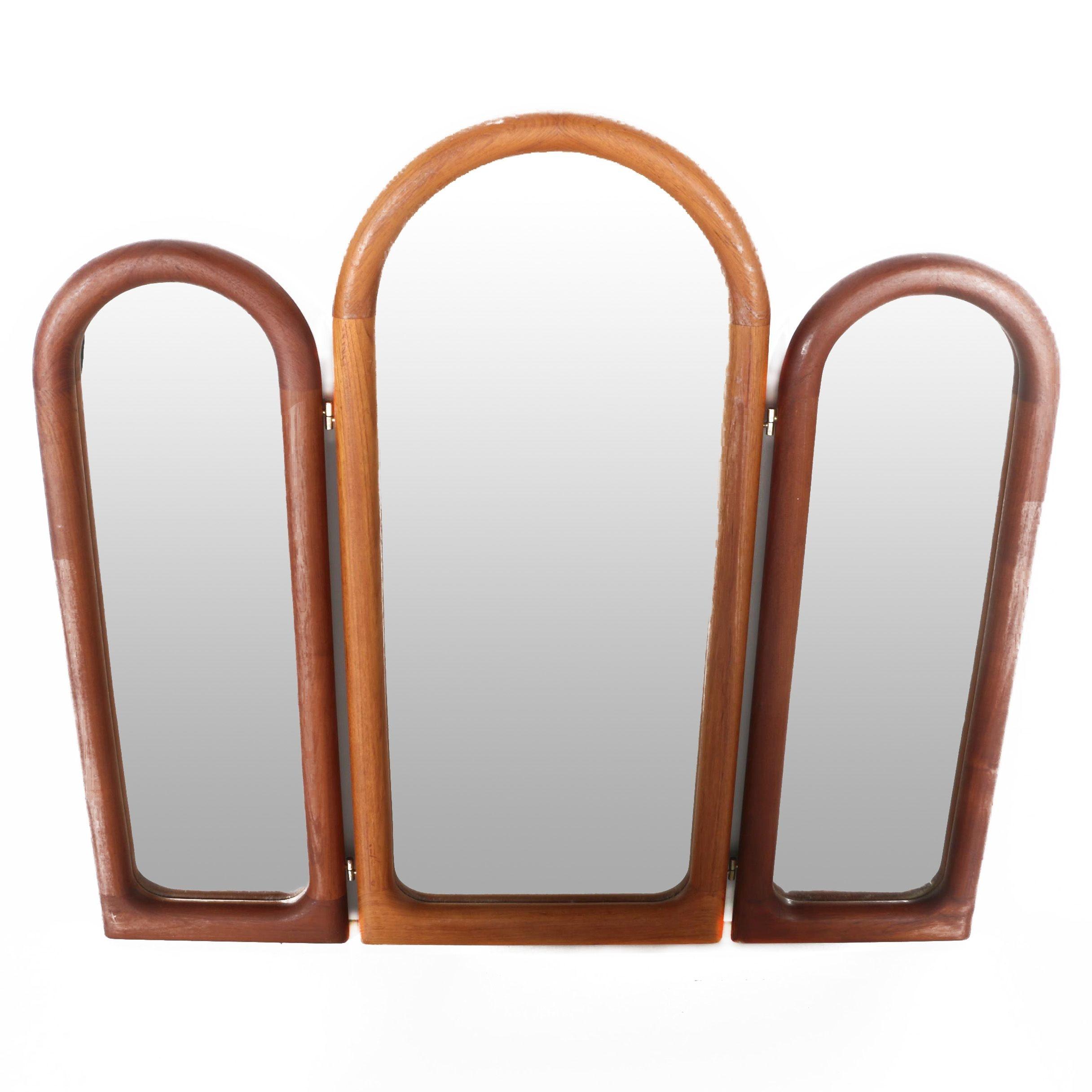 Danish Modern Hinged Vanity Mirrors by Schionning & Elgaard