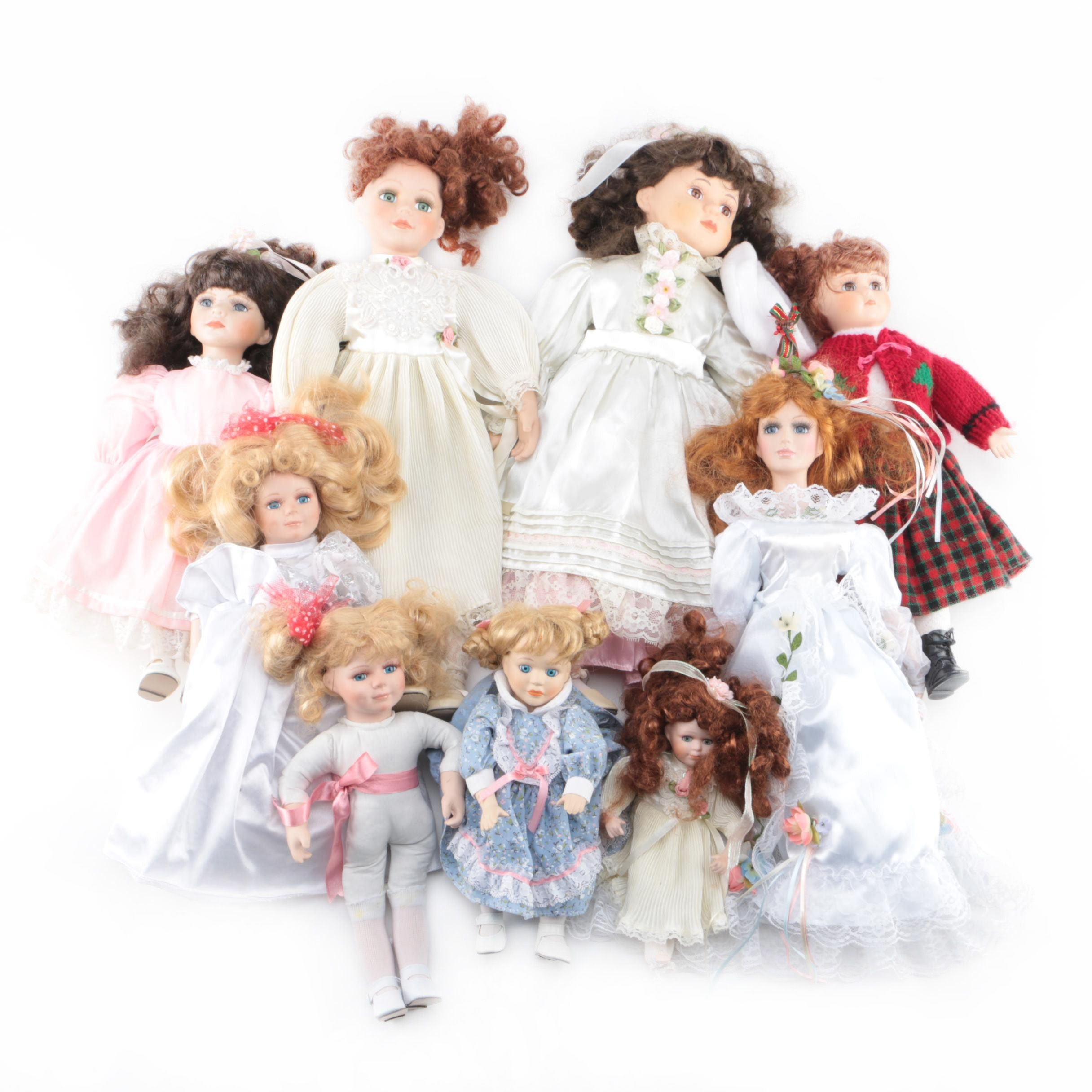 Porcelain Dolls Including DanDee's Collector's Choice