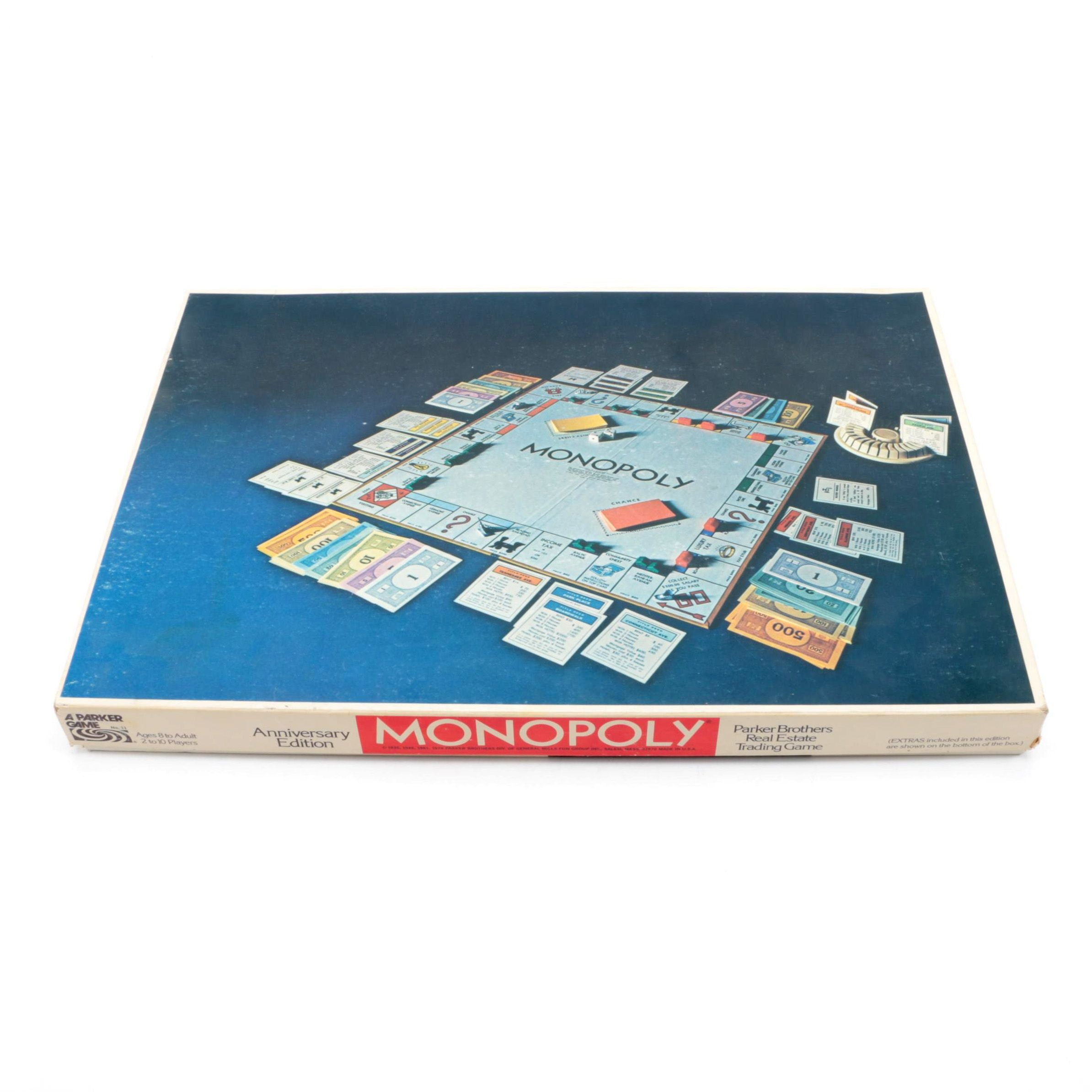 "Vintage Anniversary Edition ""Monopoly"" by Parker Brothers"