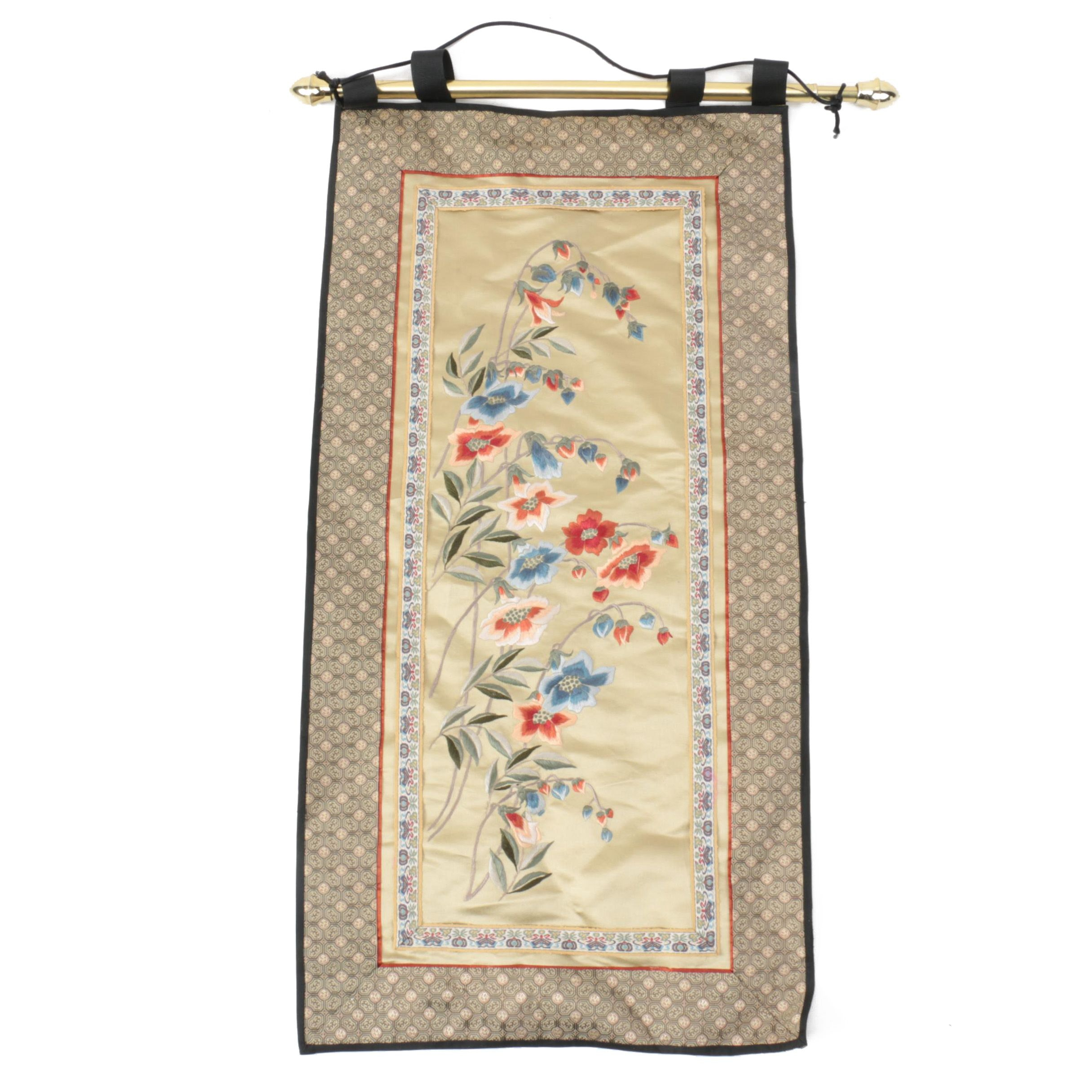 Chinese Silk Embroidery Wall Hanging