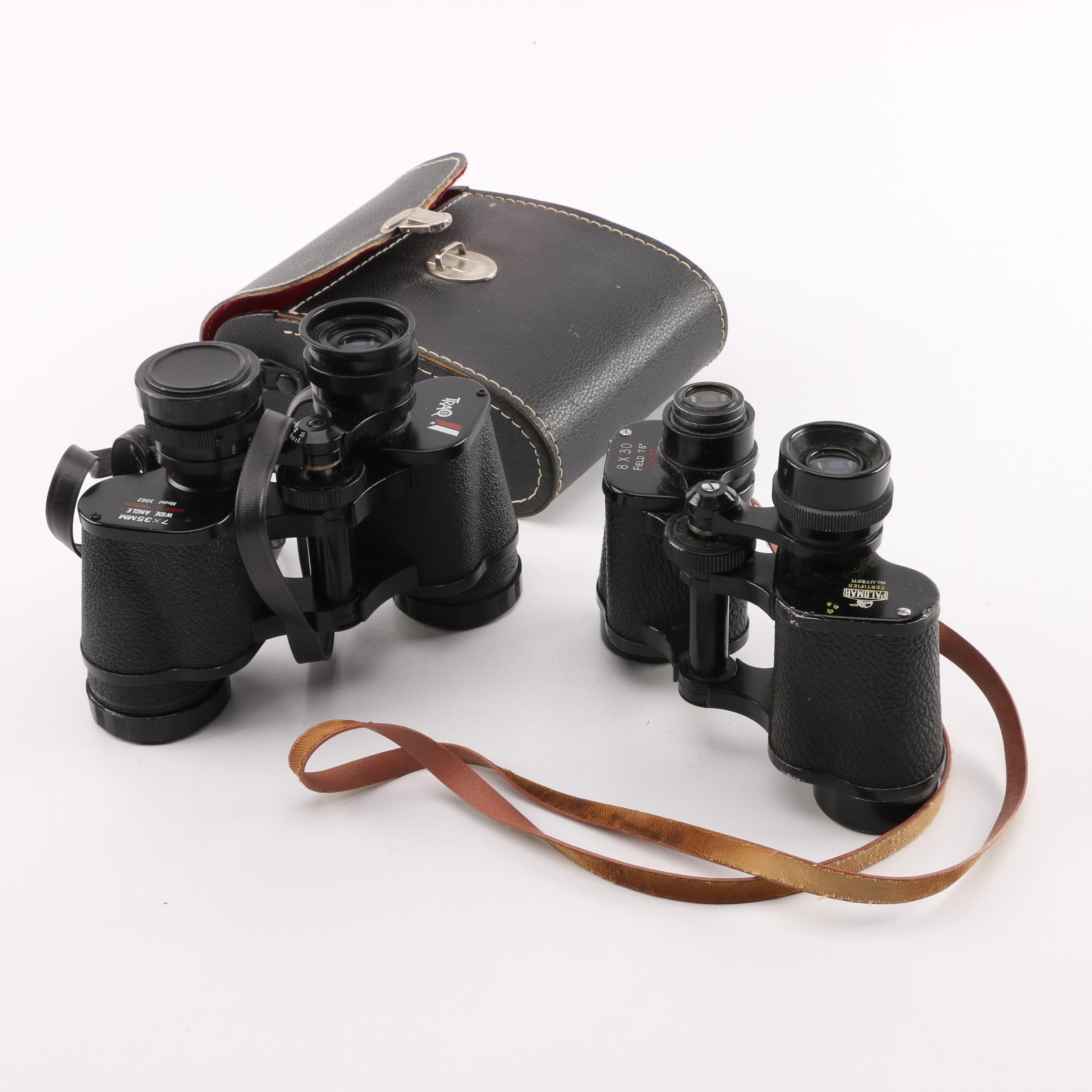 Palomar and Trao Binoculars with Case