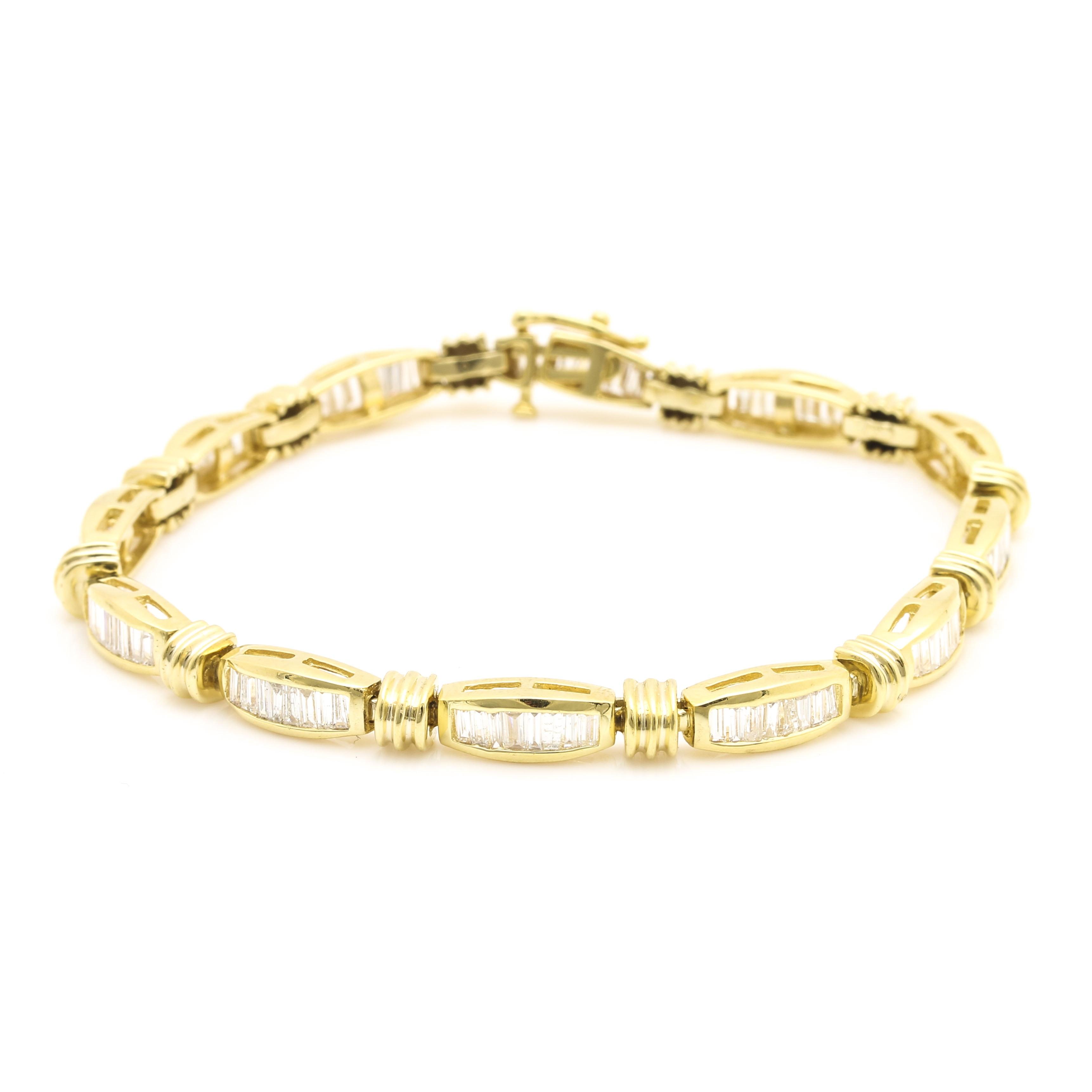 14K Yellow Gold 4.52 CTW Diamond Link Bracelet