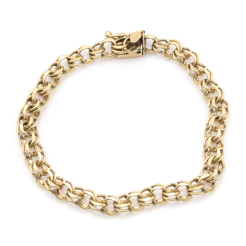 14K Yellow Gold Rolo Chain Bracelet