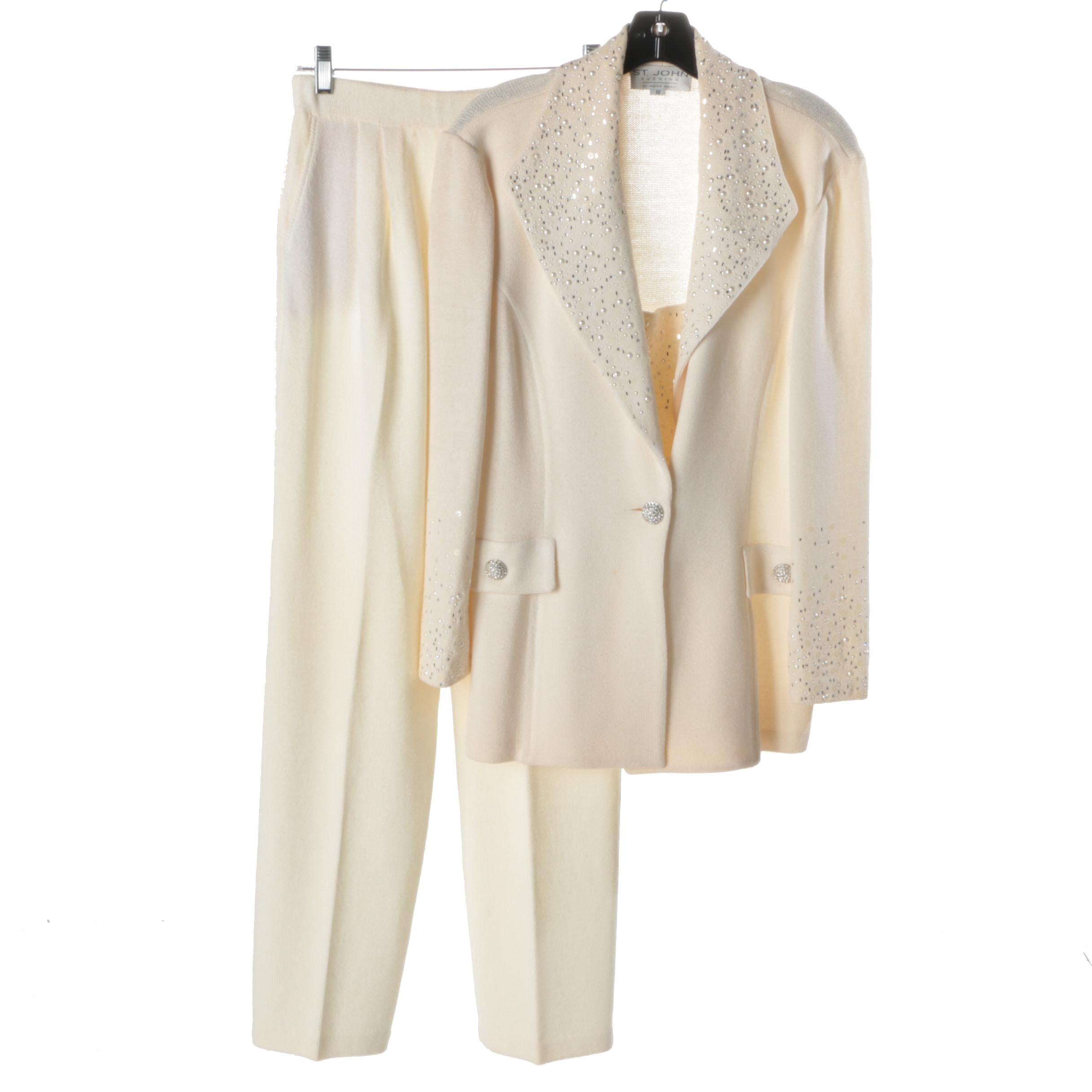 Women's St. John Evening Knit Pantsuit