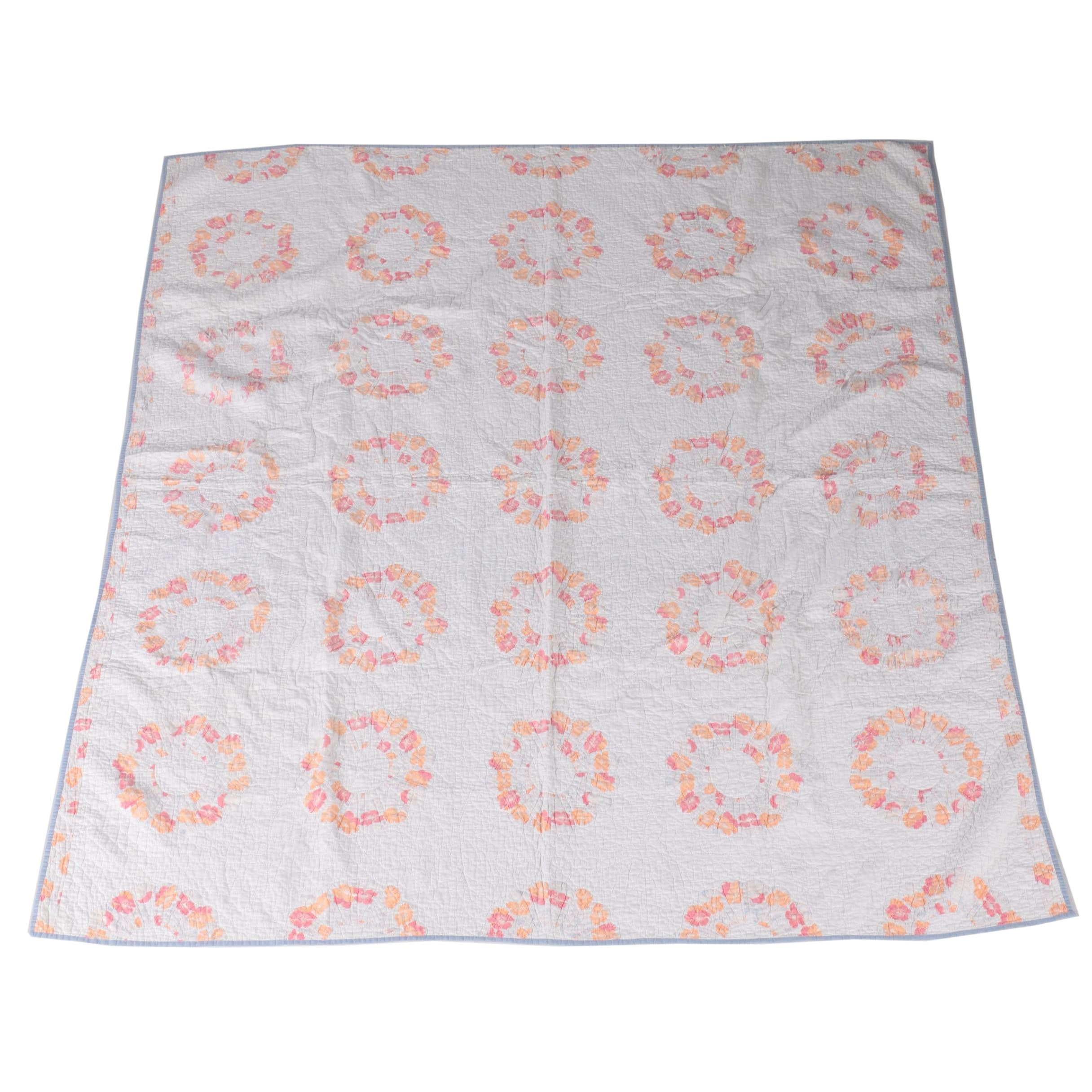 Floral Quilted Coverlet