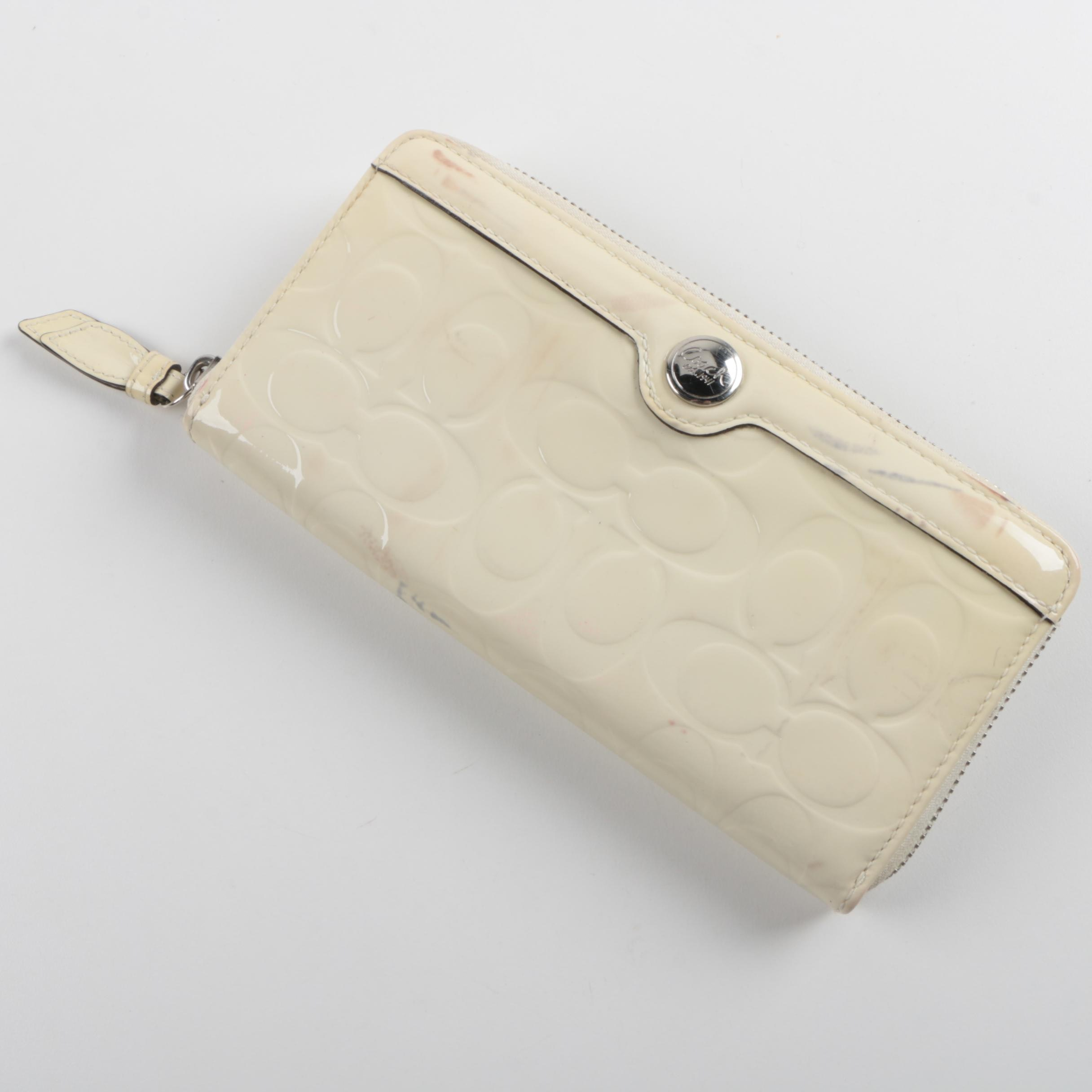 Coach Signature Patent Leather Wallet