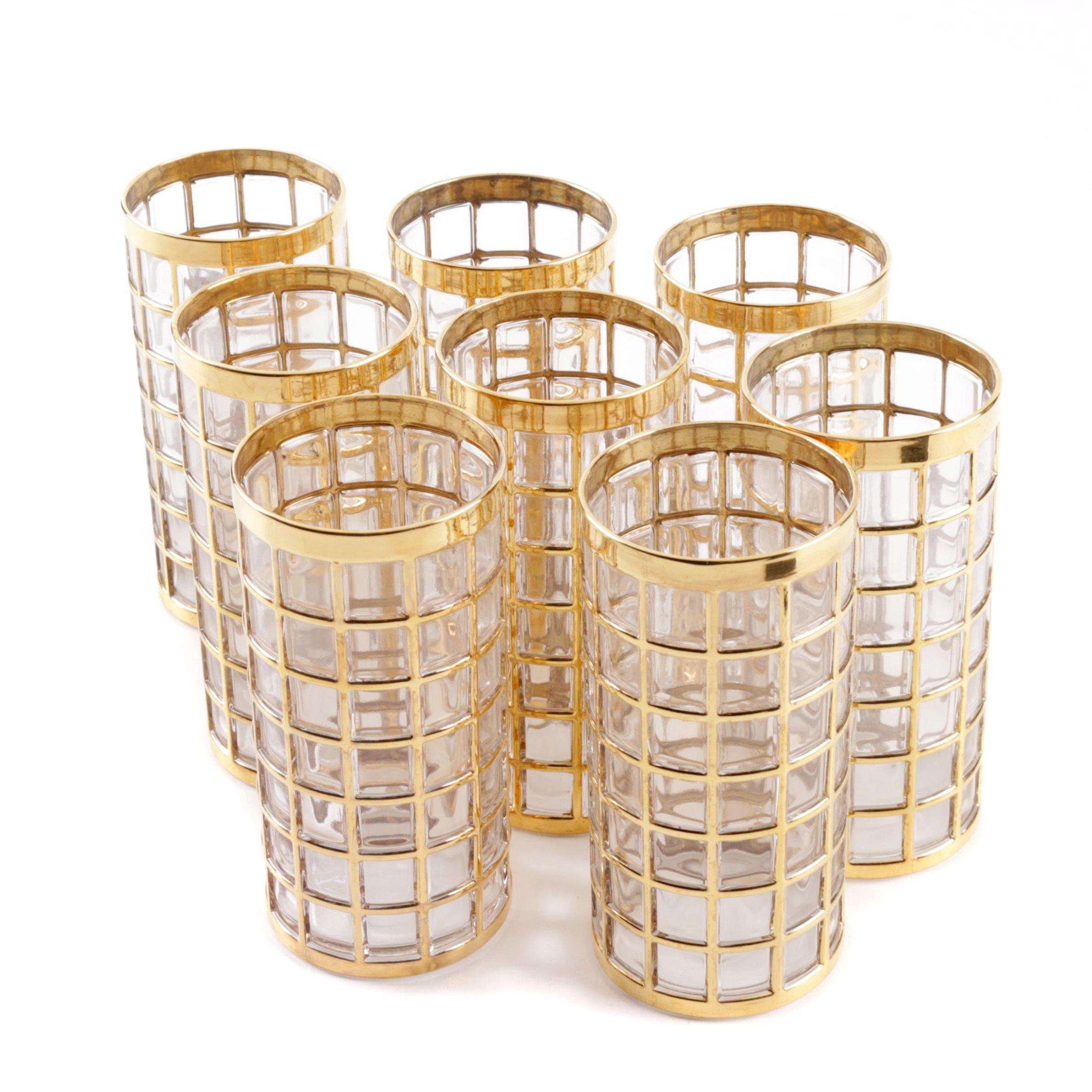 "Imperial Glass ""Toril de Oro Gold"" Glasses"
