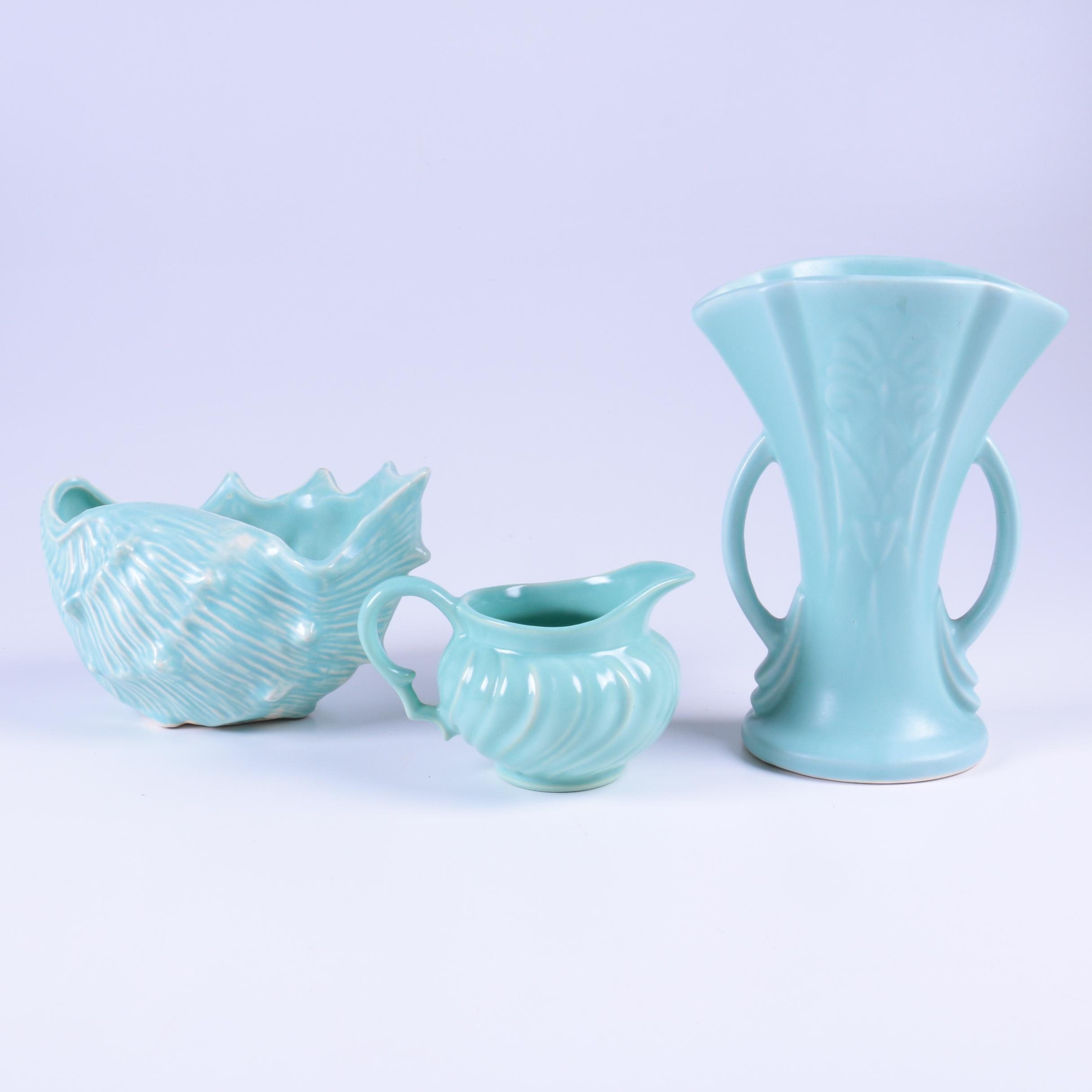 Mid Century Turquoise Pottery Featuring Franciscan
