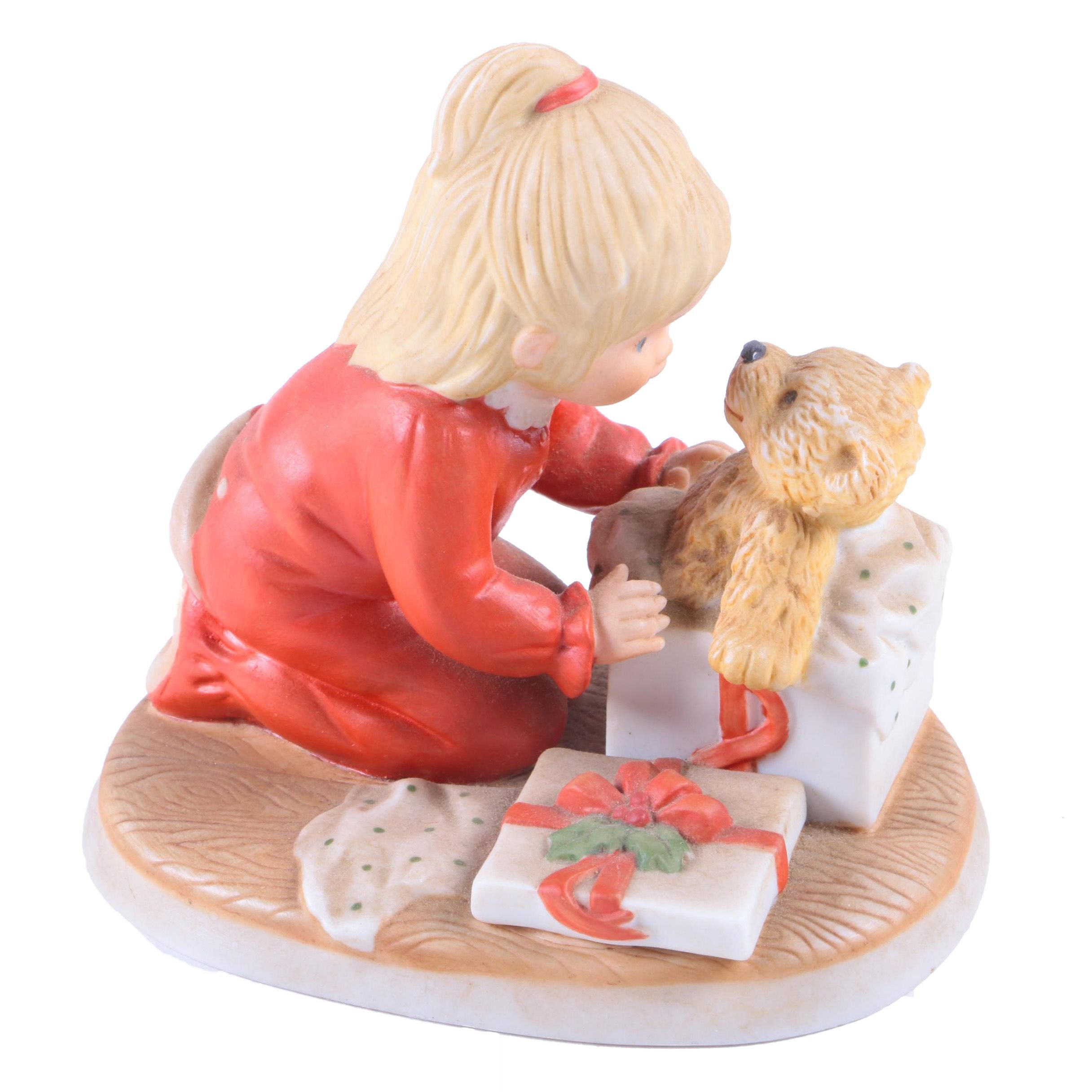 "Lenox ""Teddy's First Christmas"" Porcelain Seasonal Figurine"