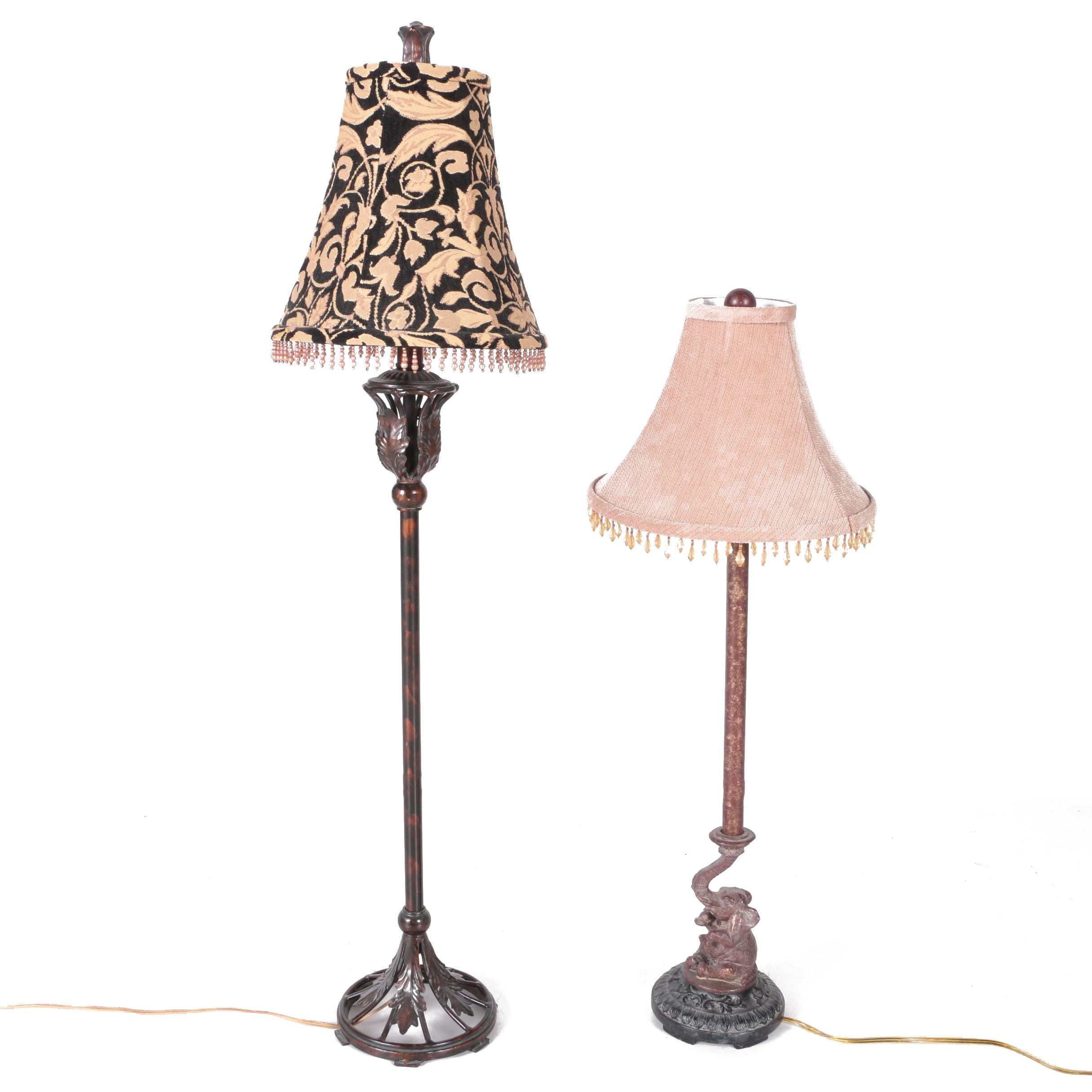 Contemporary Lamps with Beaded Shades