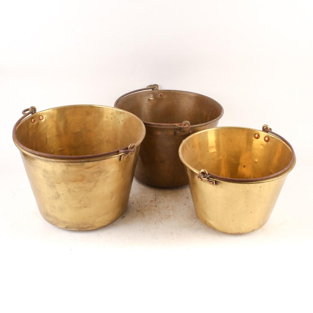 Antique Brass Buckets