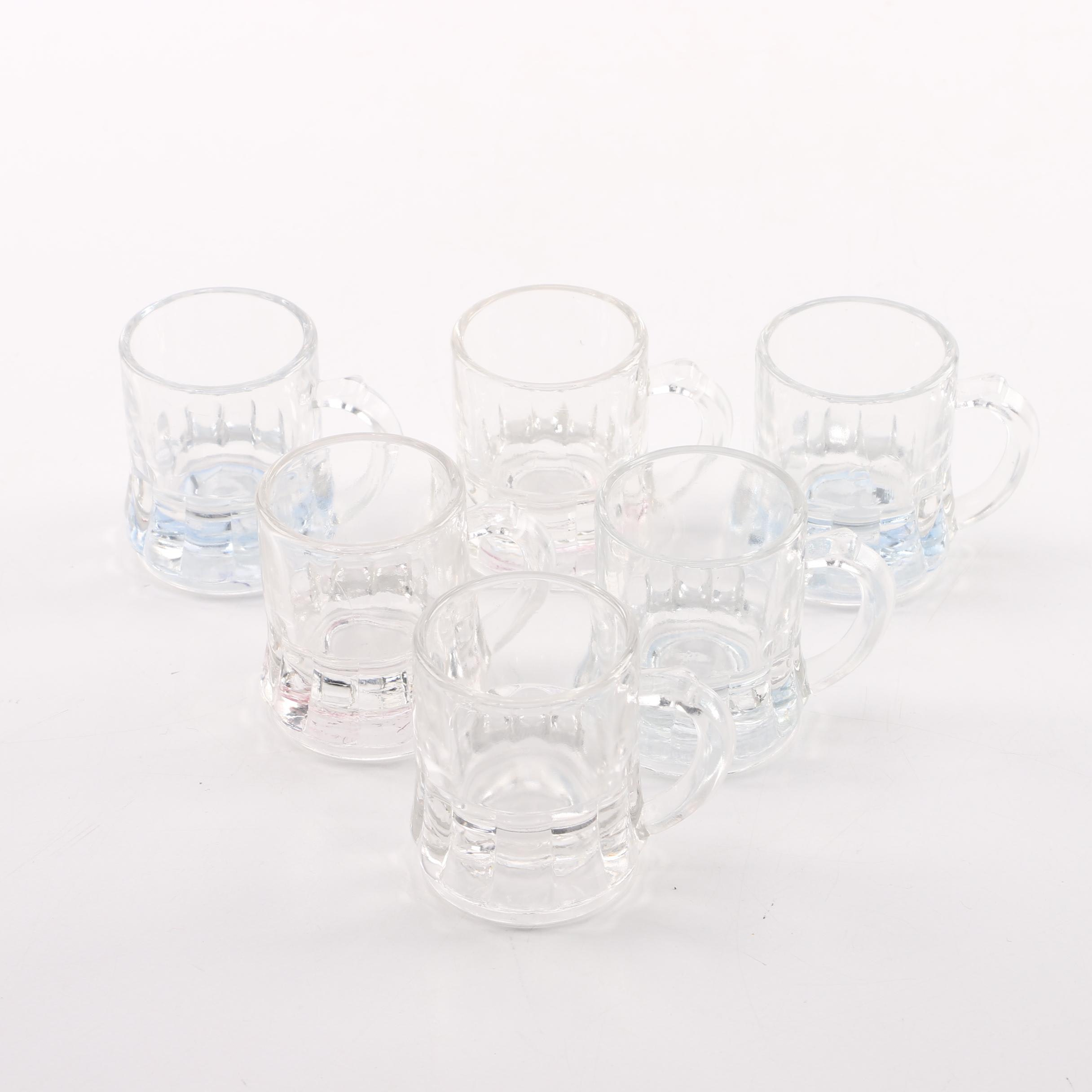 Federal Glass Beer Mug Shot Glasses