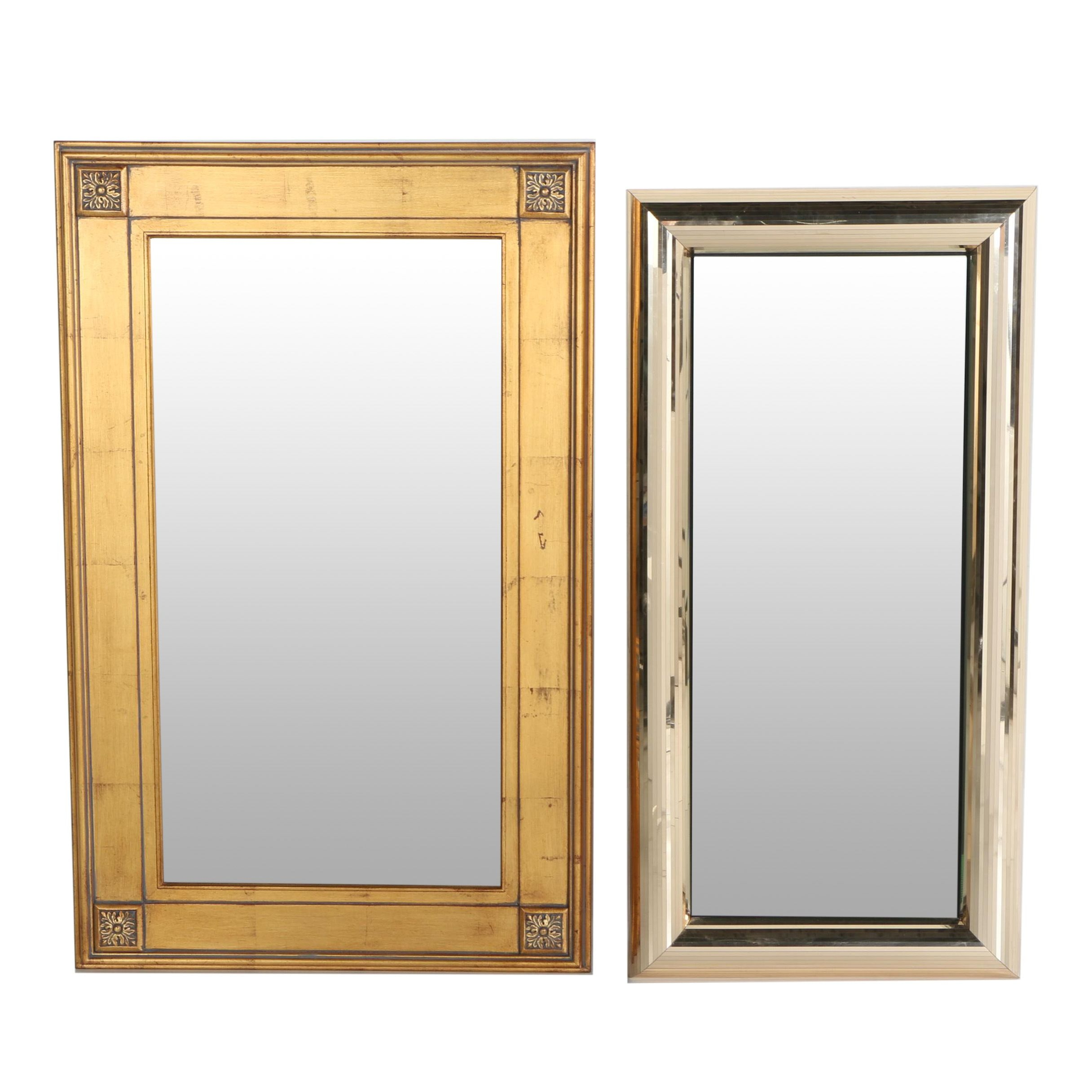 Wood and Metal Framed Wall Mirrors