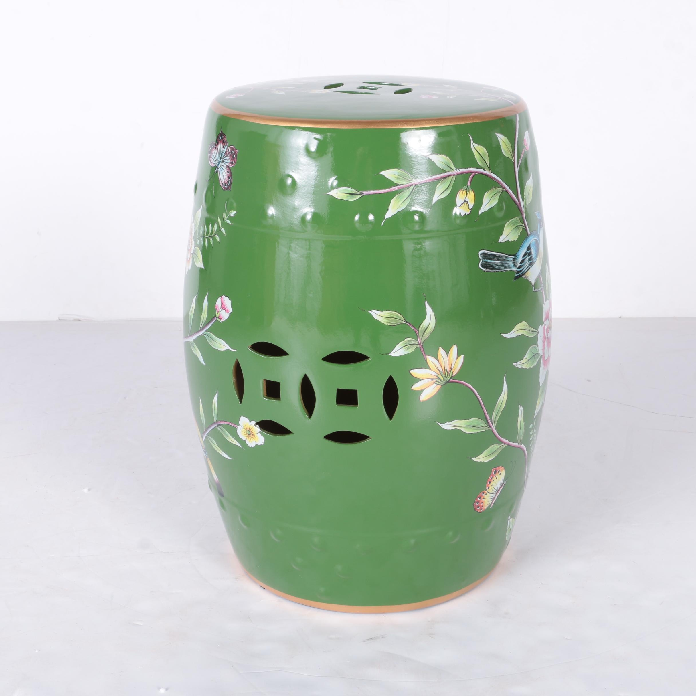 Chinese Green Ceramic Garden Seat
