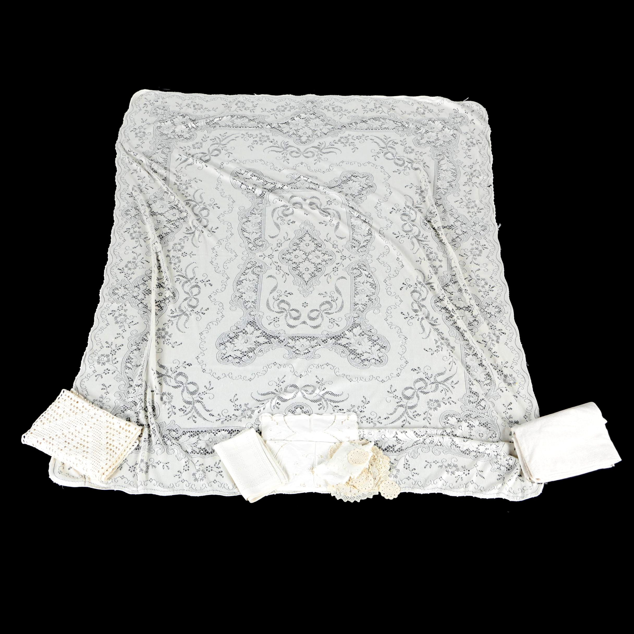 Vintage Crochet and Lace Table Linens