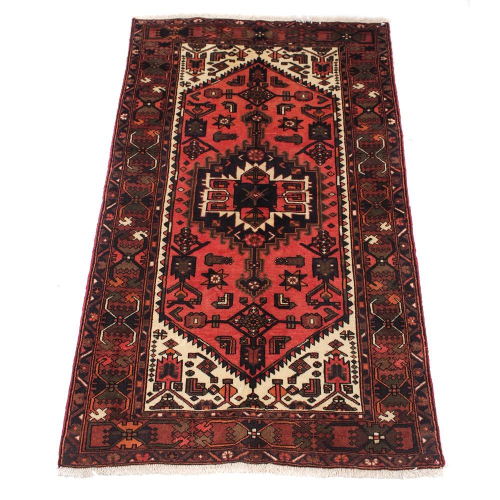 Hand-Knotted Fine Persian Zanjan Rug