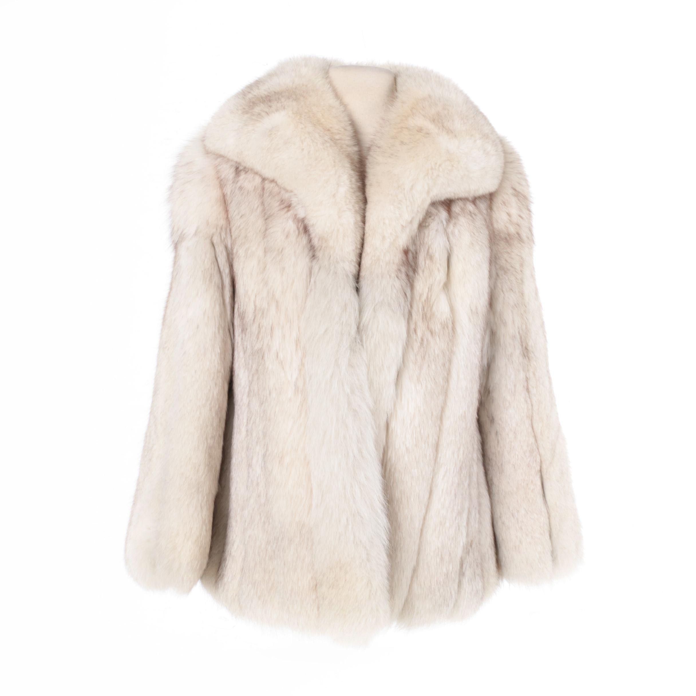 Women's Embroy's Blue Fox Fur Coat