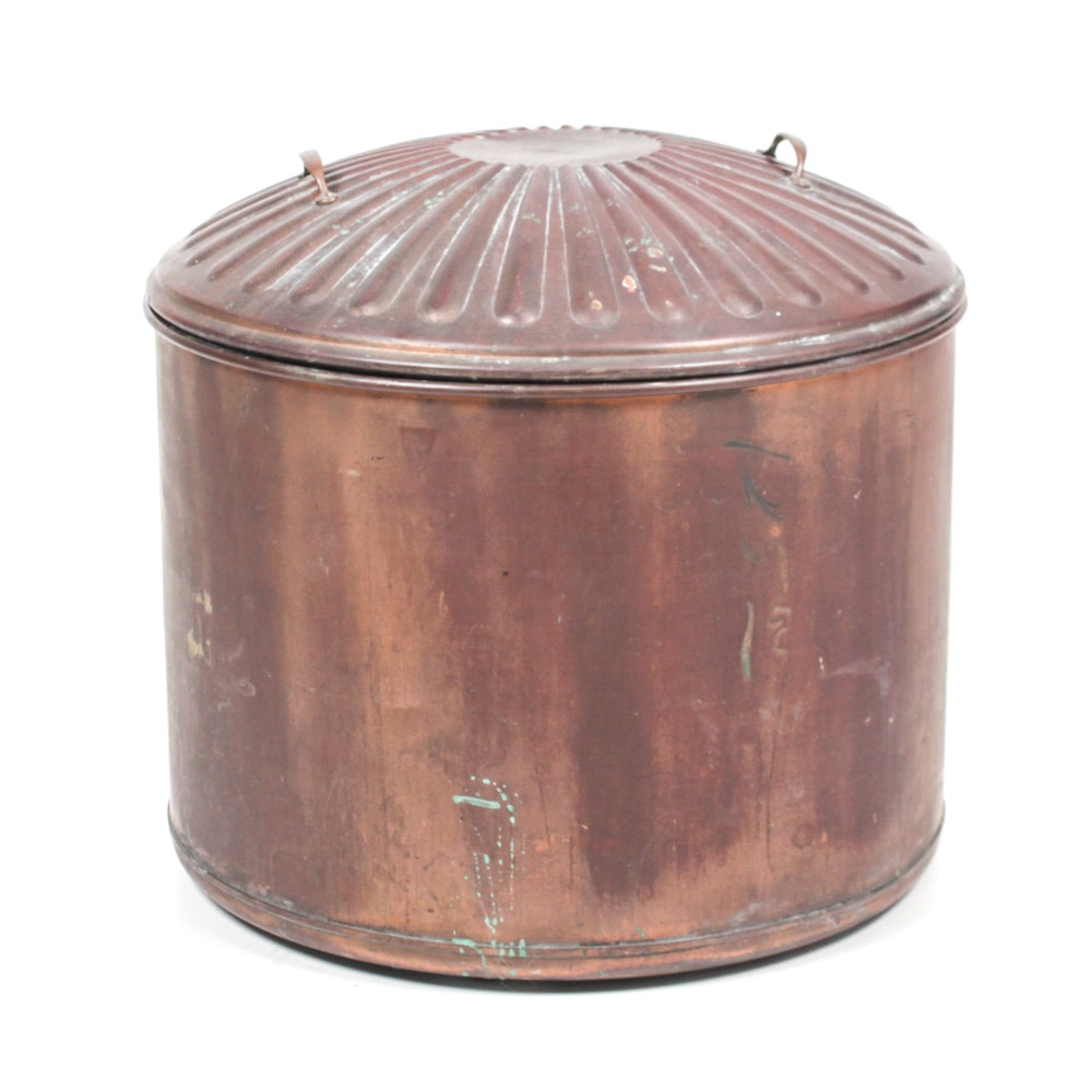 Vintage Copper Cistern with Lid