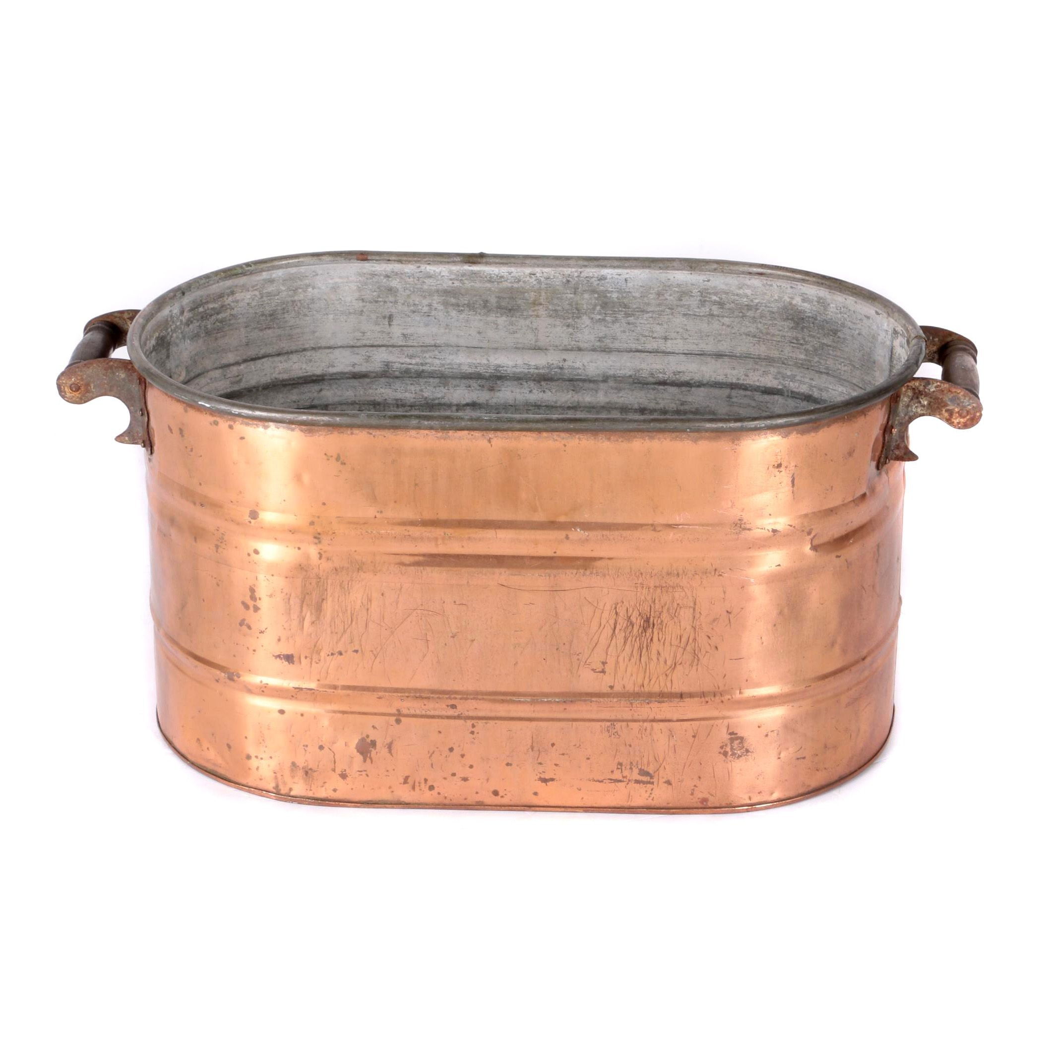 Oval Copper Boiler Steamer Pot