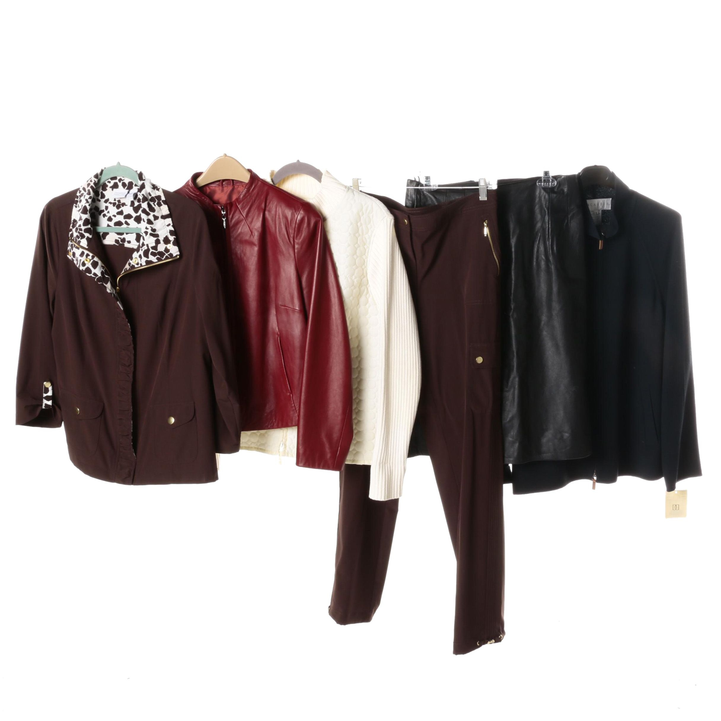 Women's Separates Including Leather Jacket and Skirt