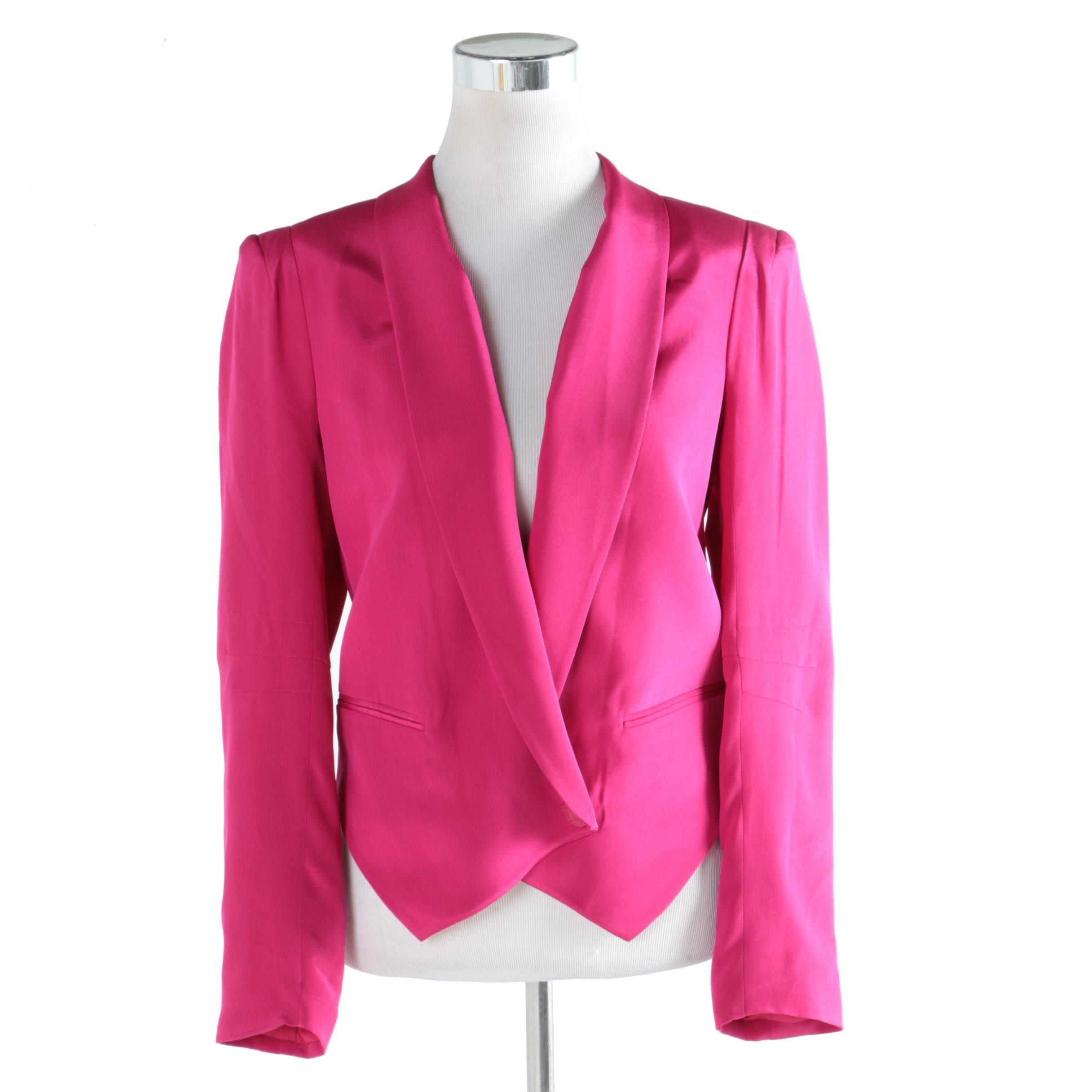 Women's Rebecca Minkoff Magenta Silk Jacket