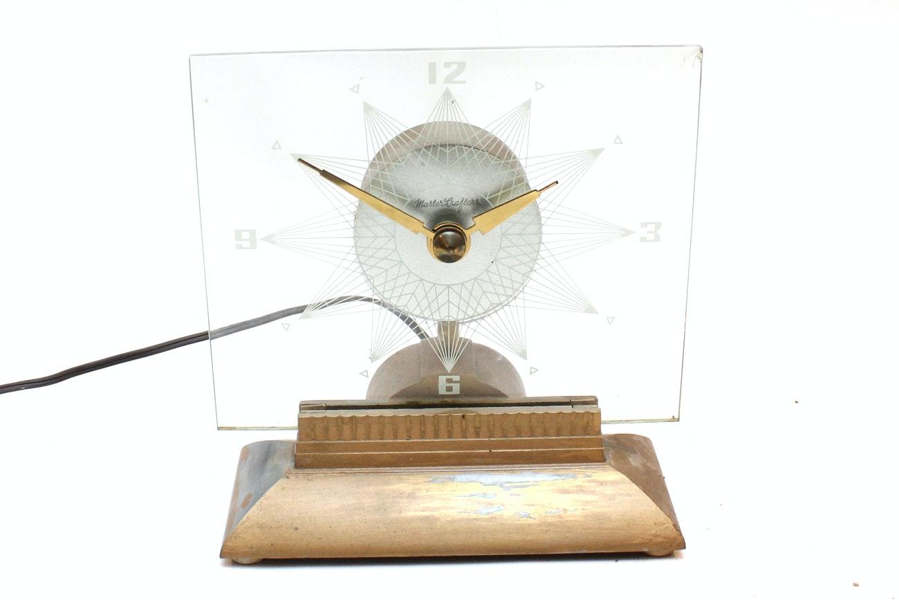 "Mid Century Modern ""Starlight"" Shelf Clock"