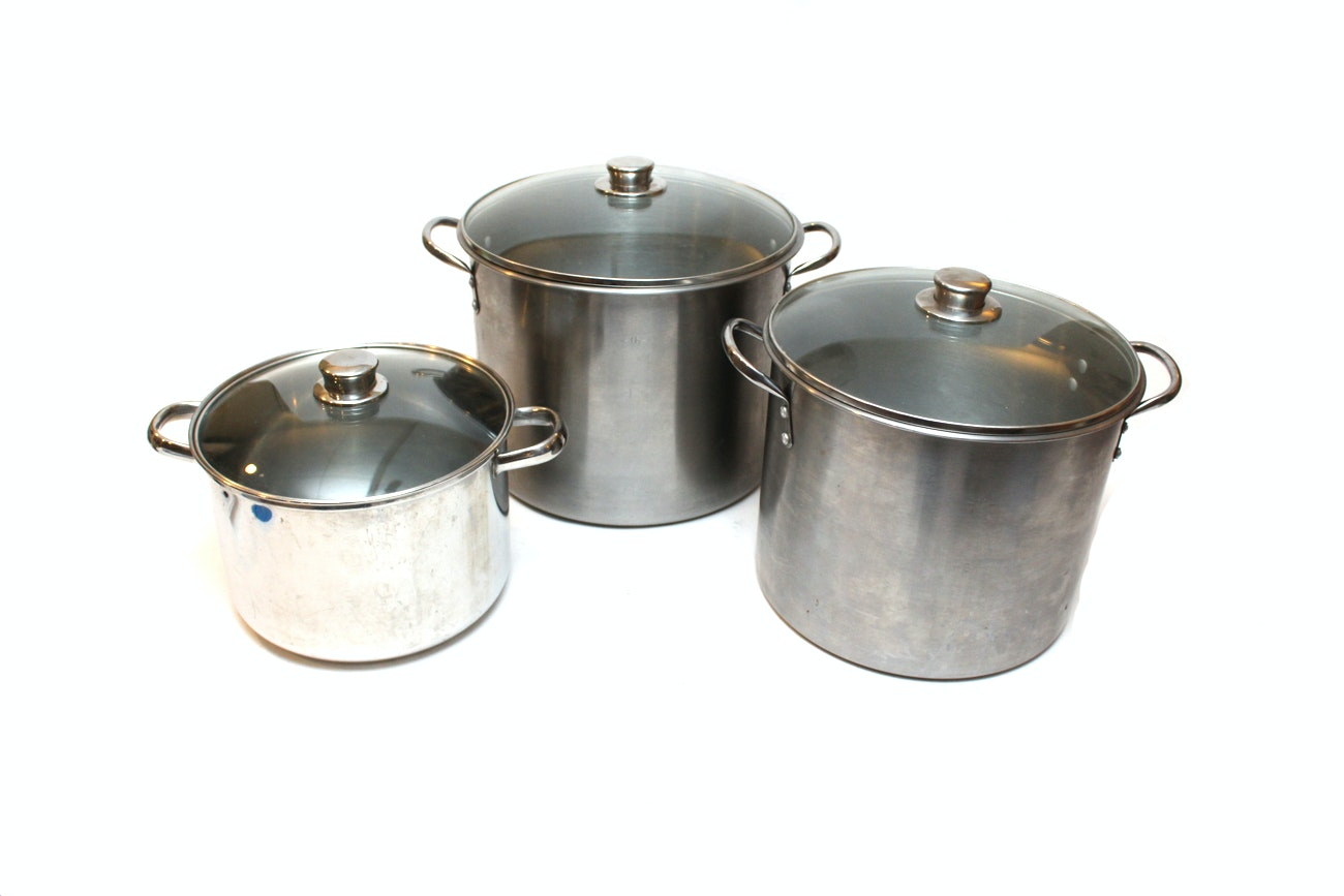Stainless Steel Cookware With Glass