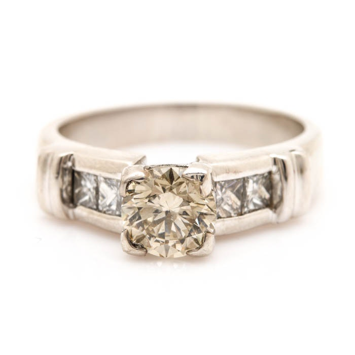 Platinum 1.38 DWT Diamond Ring