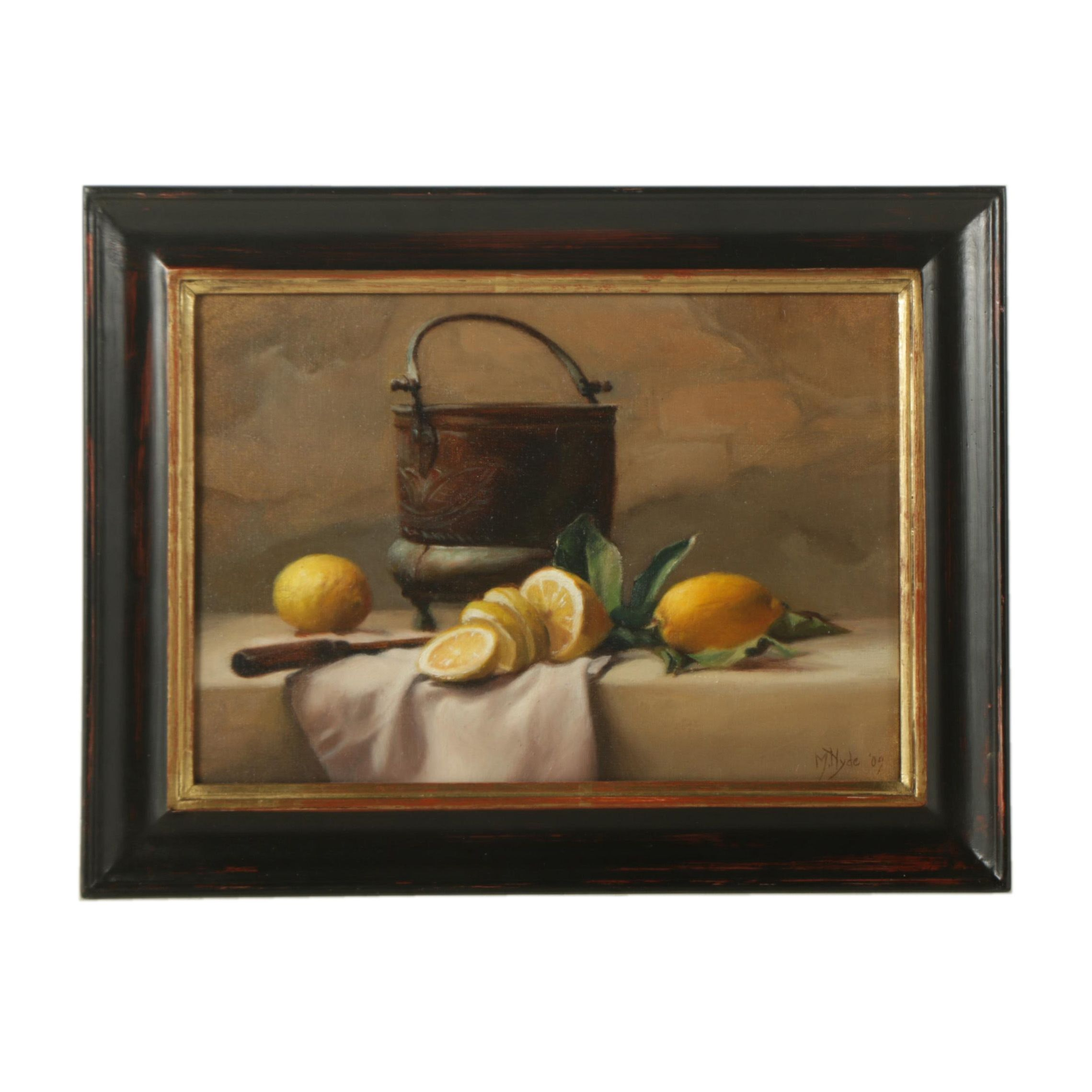 Maureen Hyde Oil Painting on Canvas of Still Life
