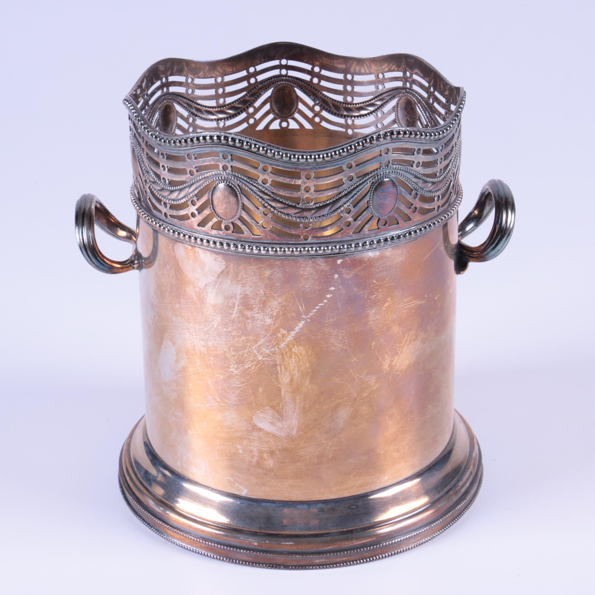 Ellis-Barker Silver Co. Silver-Plated Wine Bottle Stand