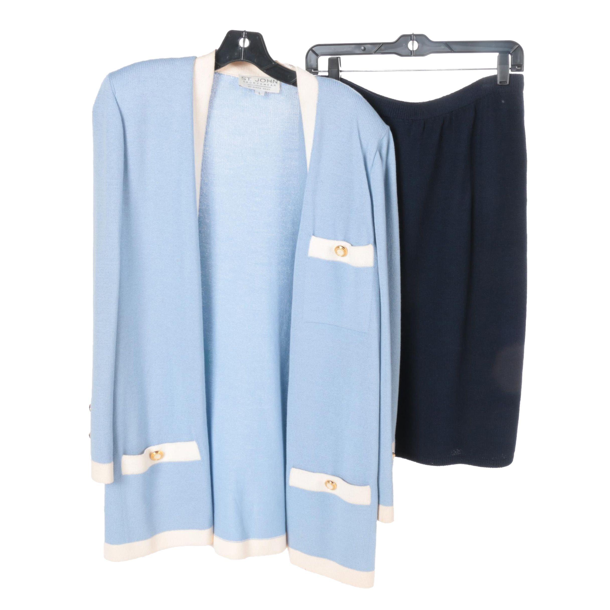 St. John Sweater and Skirt