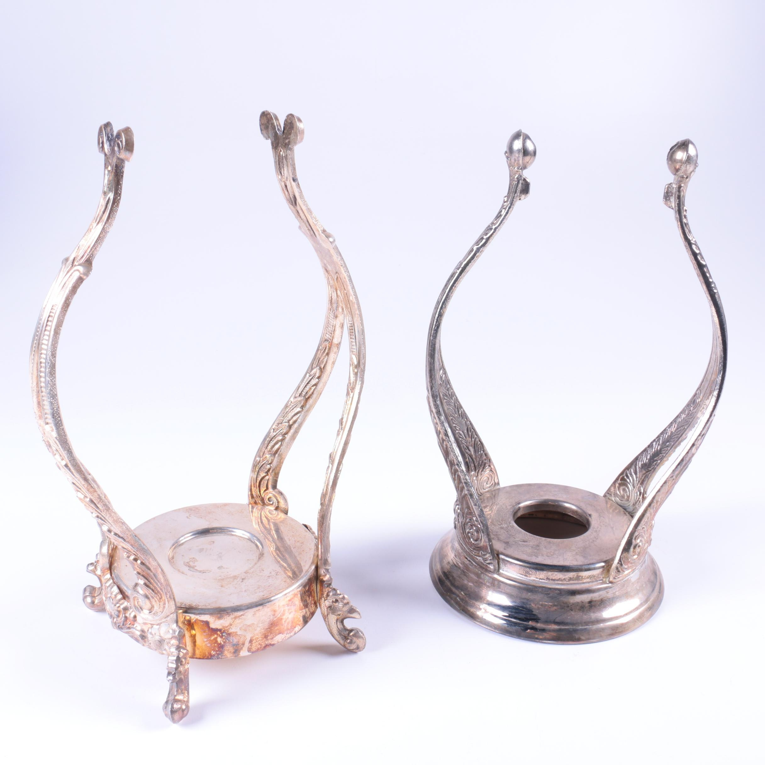 English Silver Mfg. Corp. and Other Silver-Plated Teapot Stands