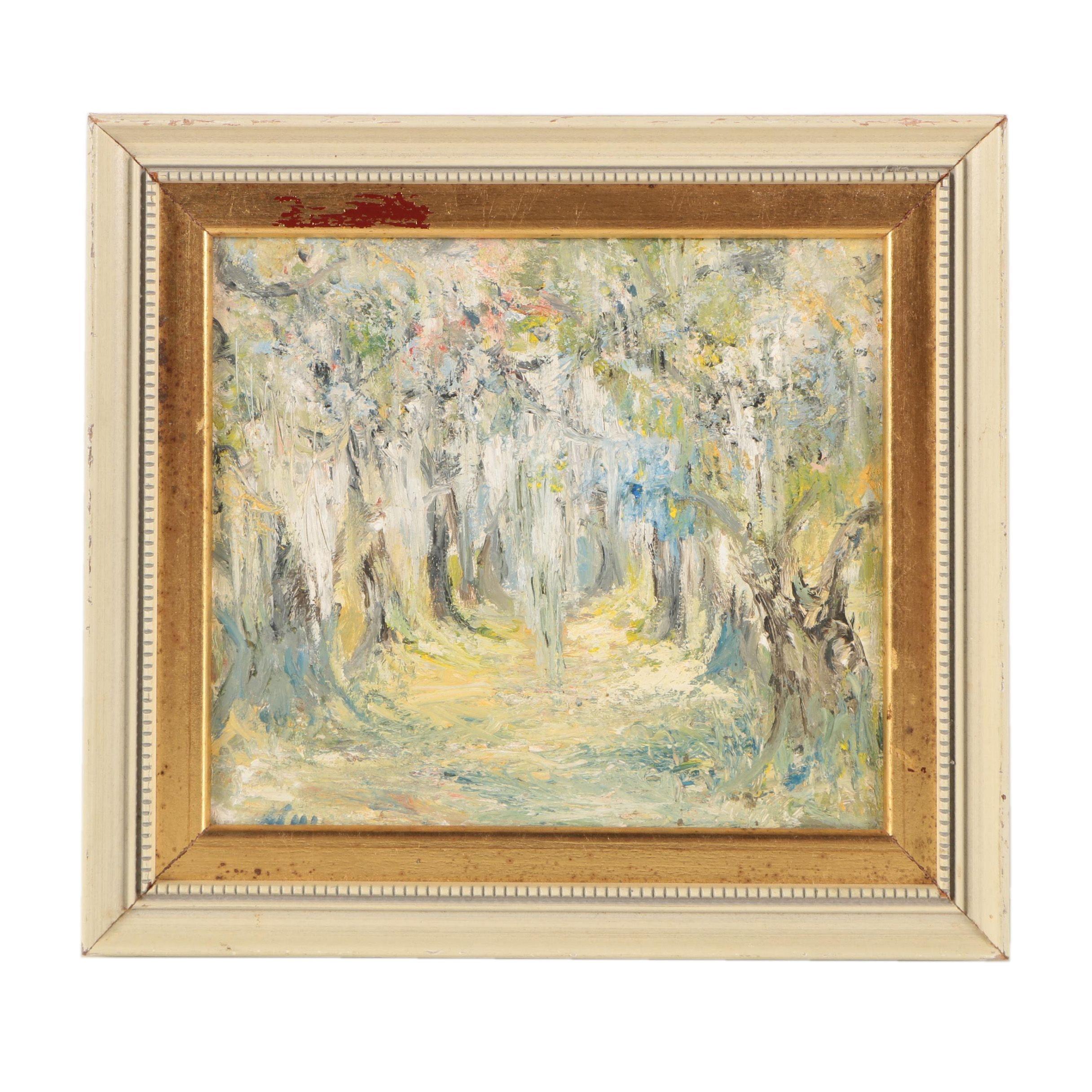 "Oil Painting on Panel ""Jazz"""