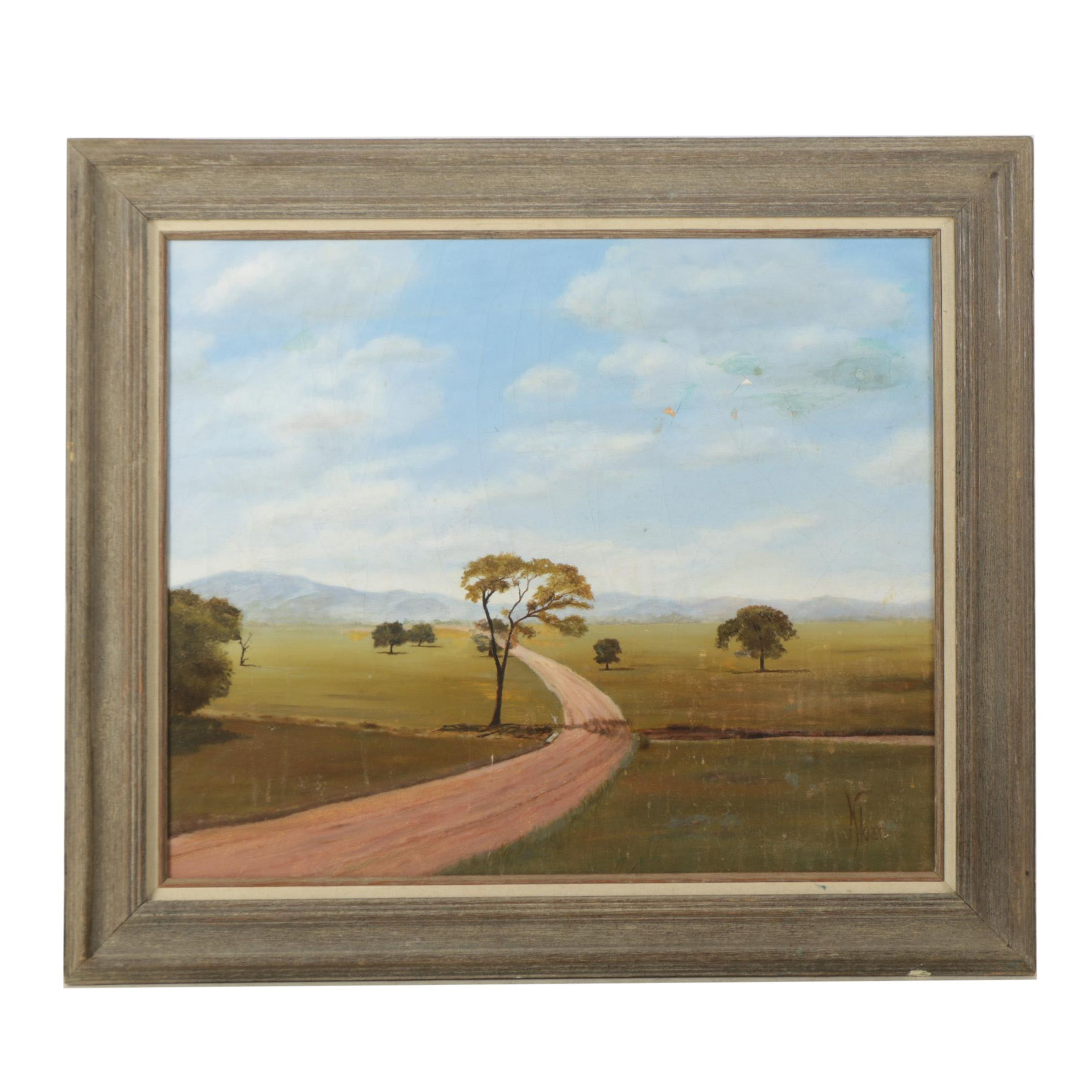 Kloan Oil Painting of a Landscape