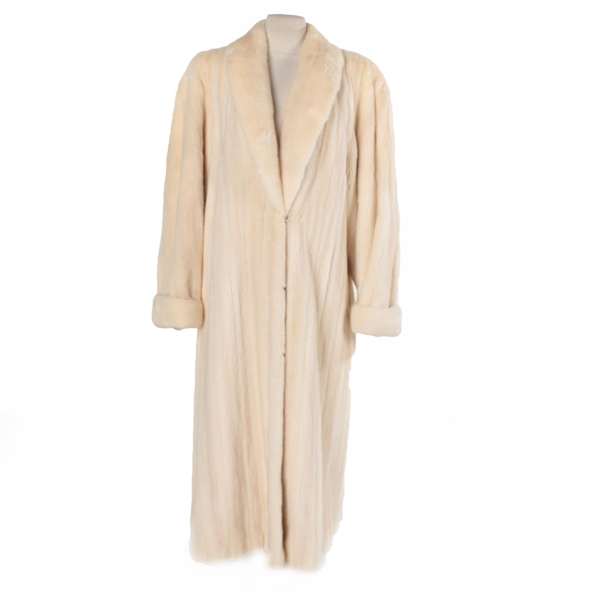 Women's Vintage Revillon Museum Collection Full-Length Blonde Mink Fur Coat