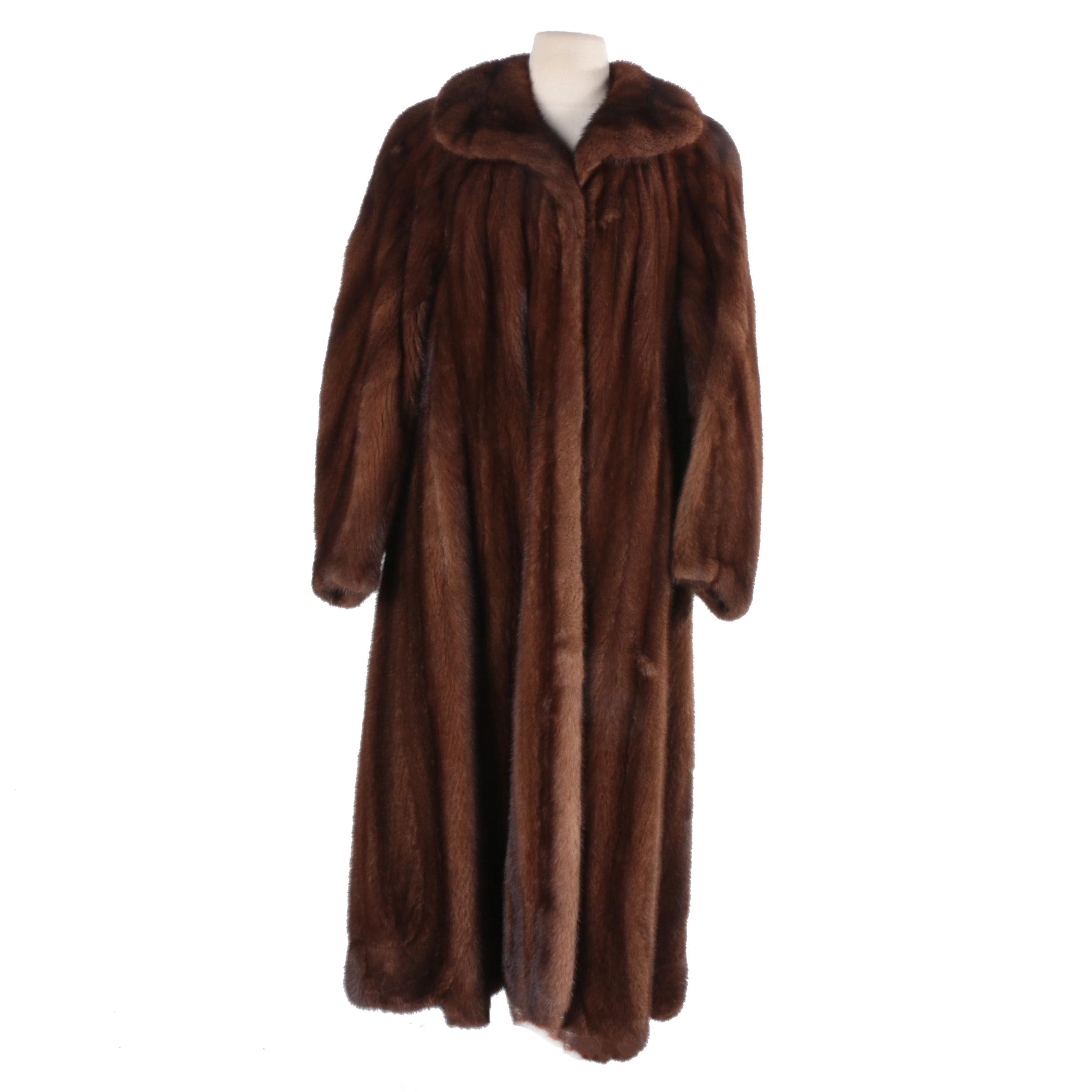 Saga Mink Brown Mink Fur Coat