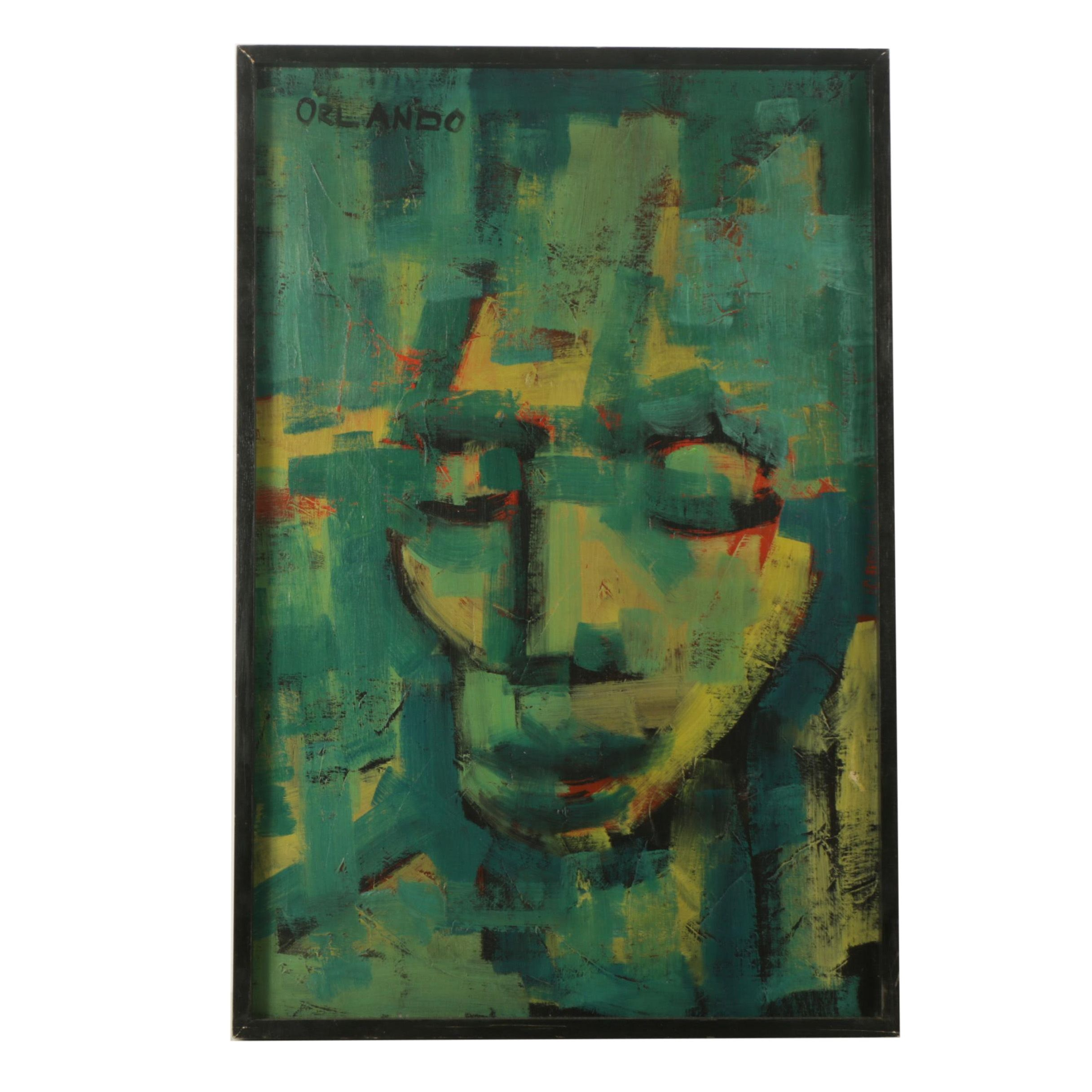 Felipe Orlando Oil Painting on Canvas Abstracted Portrait