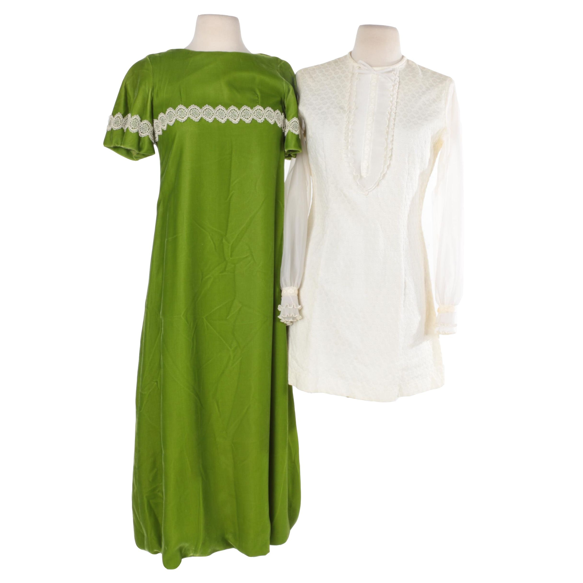 1960s-70s Vintage Velvet and Brocade Dresses
