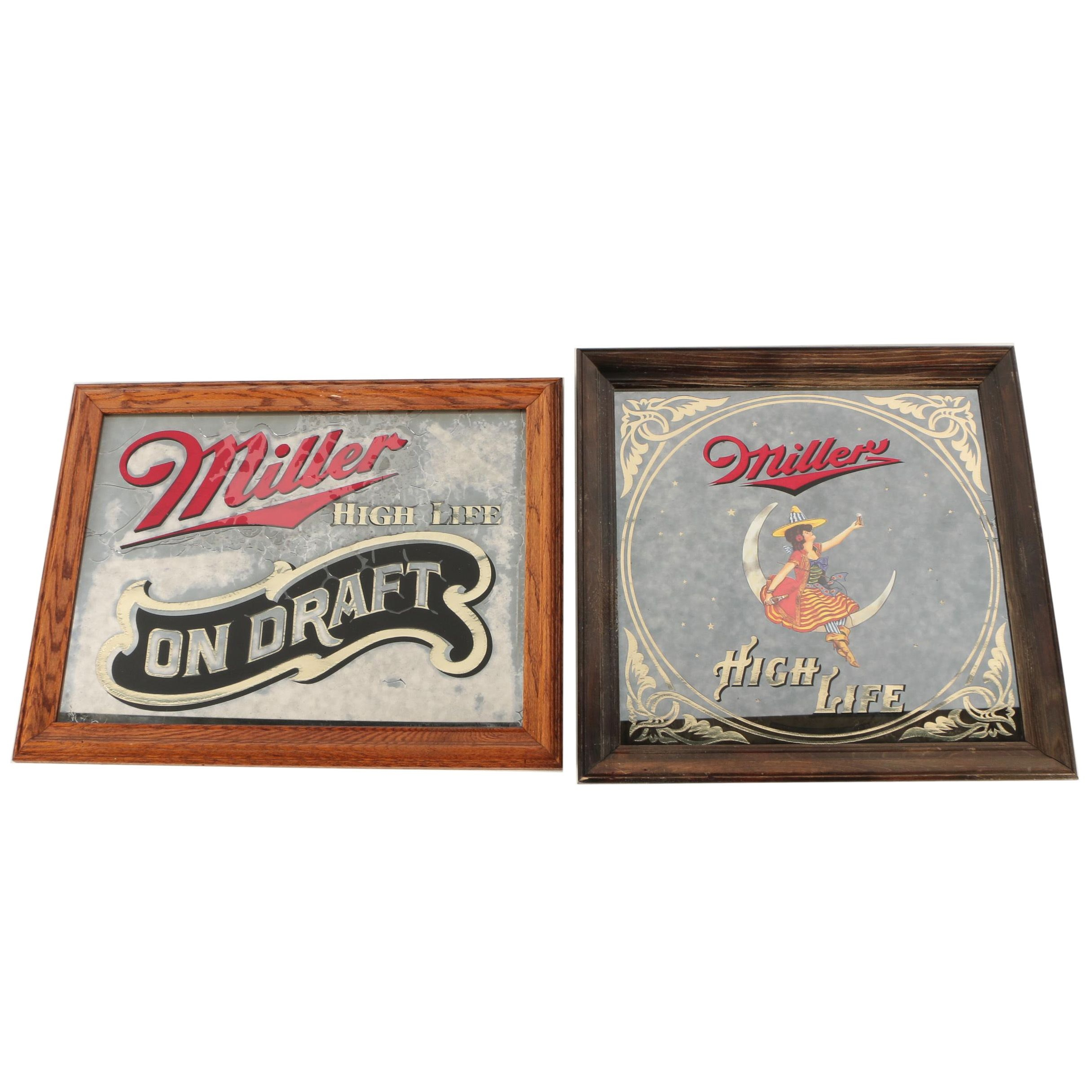 Mirror Miller High Life Mirror Signs