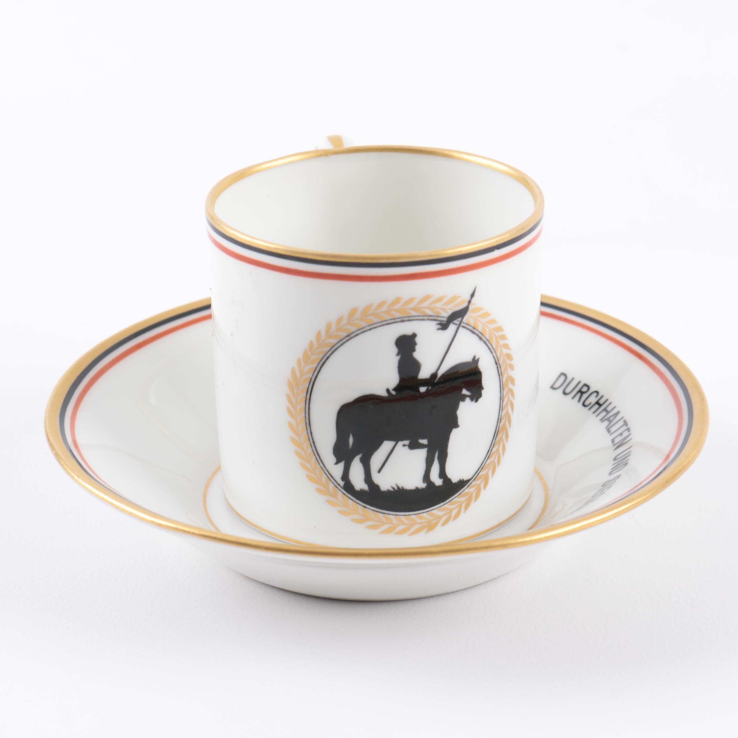 KPM Porcelain Cup and Saucer